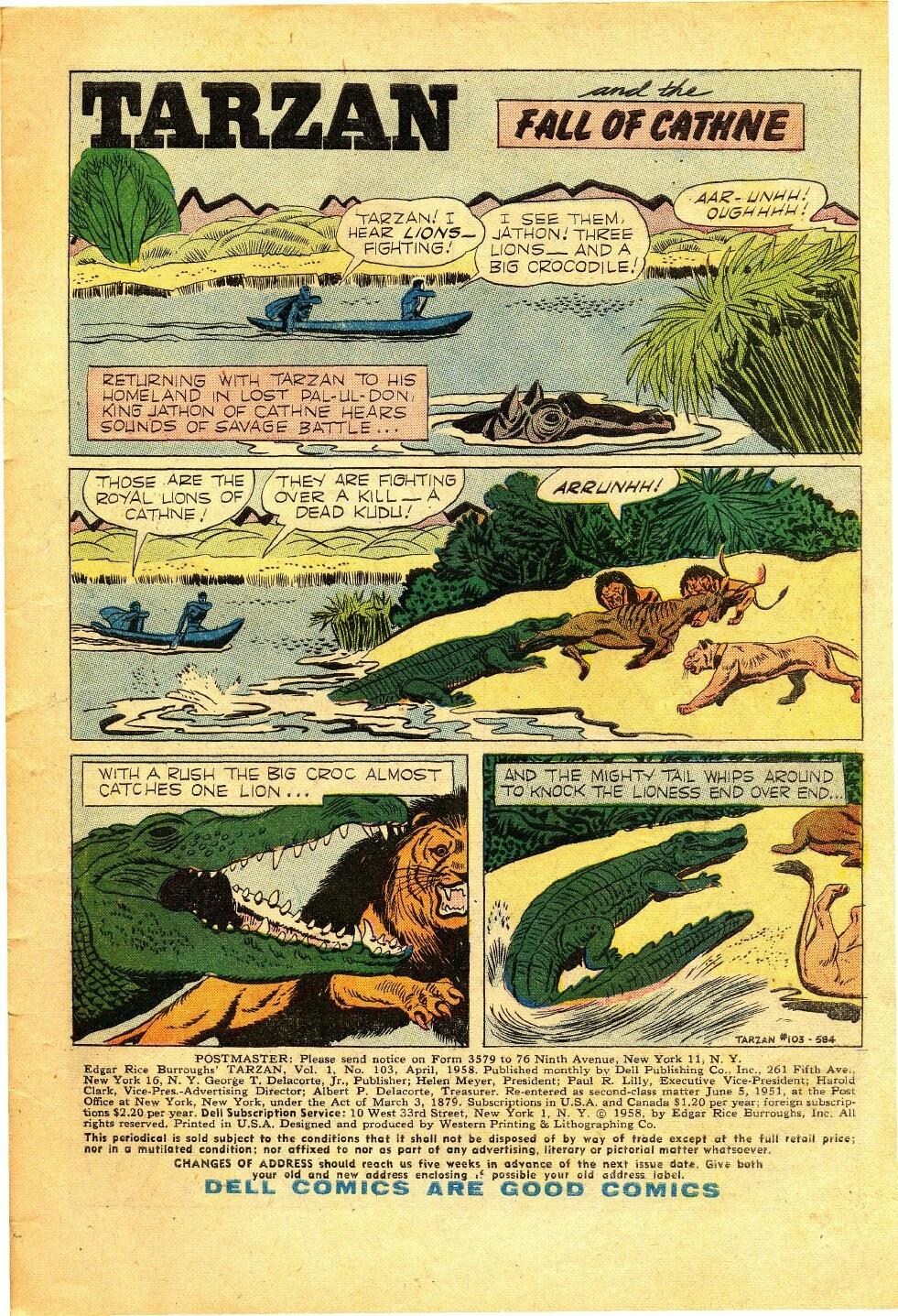 Tarzan (1948) issue 103 - Page 1
