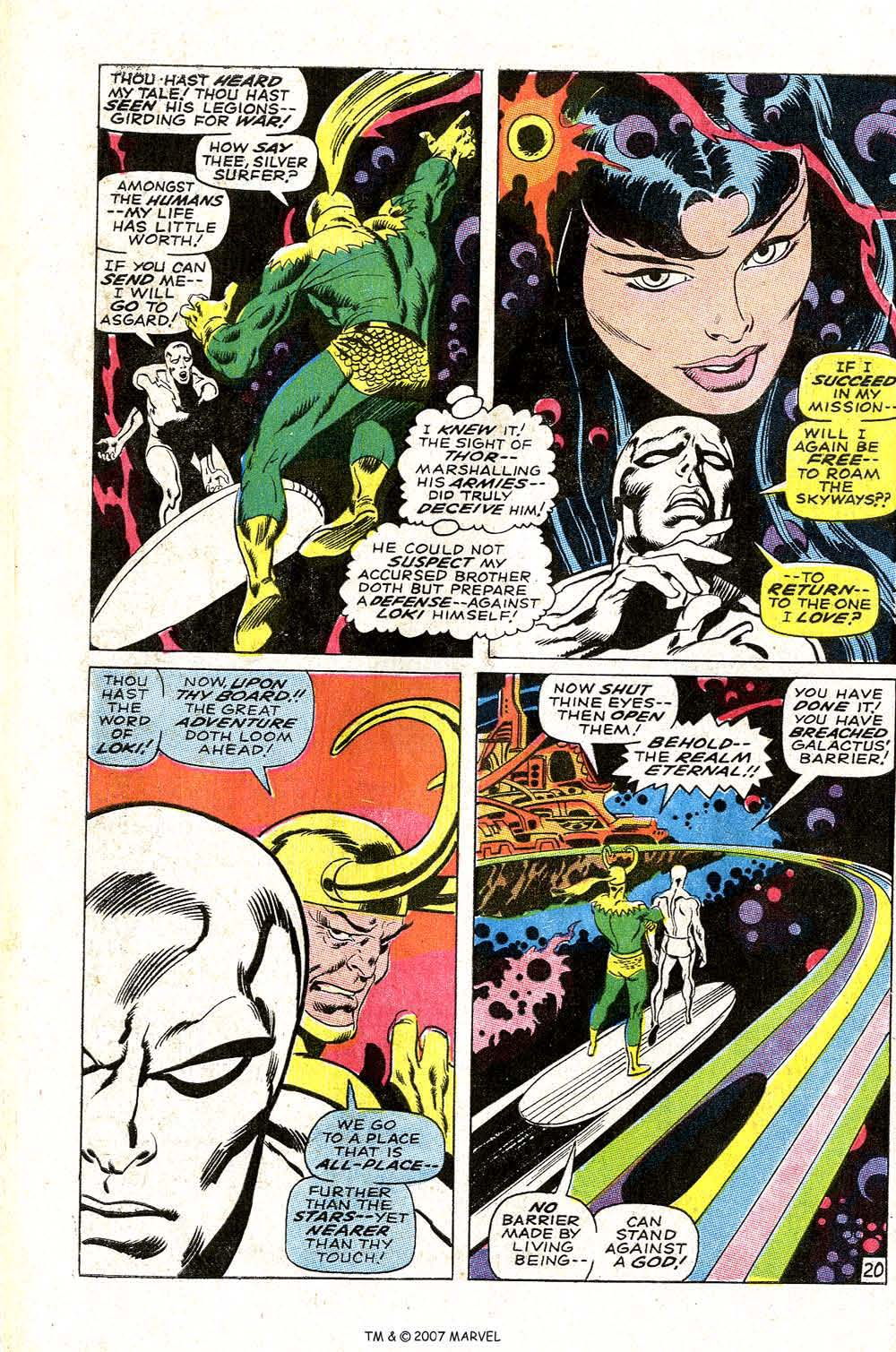 Read online Silver Surfer (1968) comic -  Issue #4 - 26