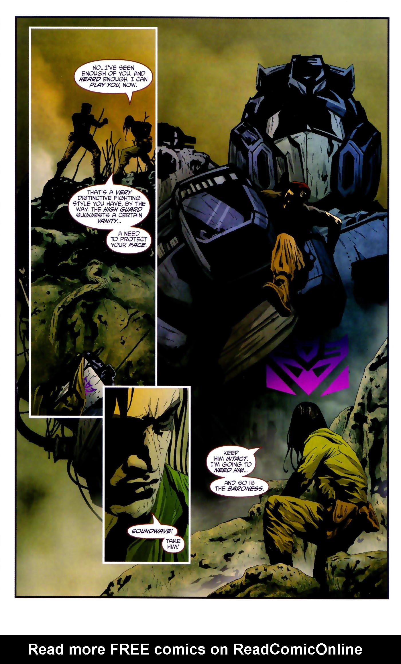 Read online Transformers/G.I. Joe comic -  Issue #4 - 5