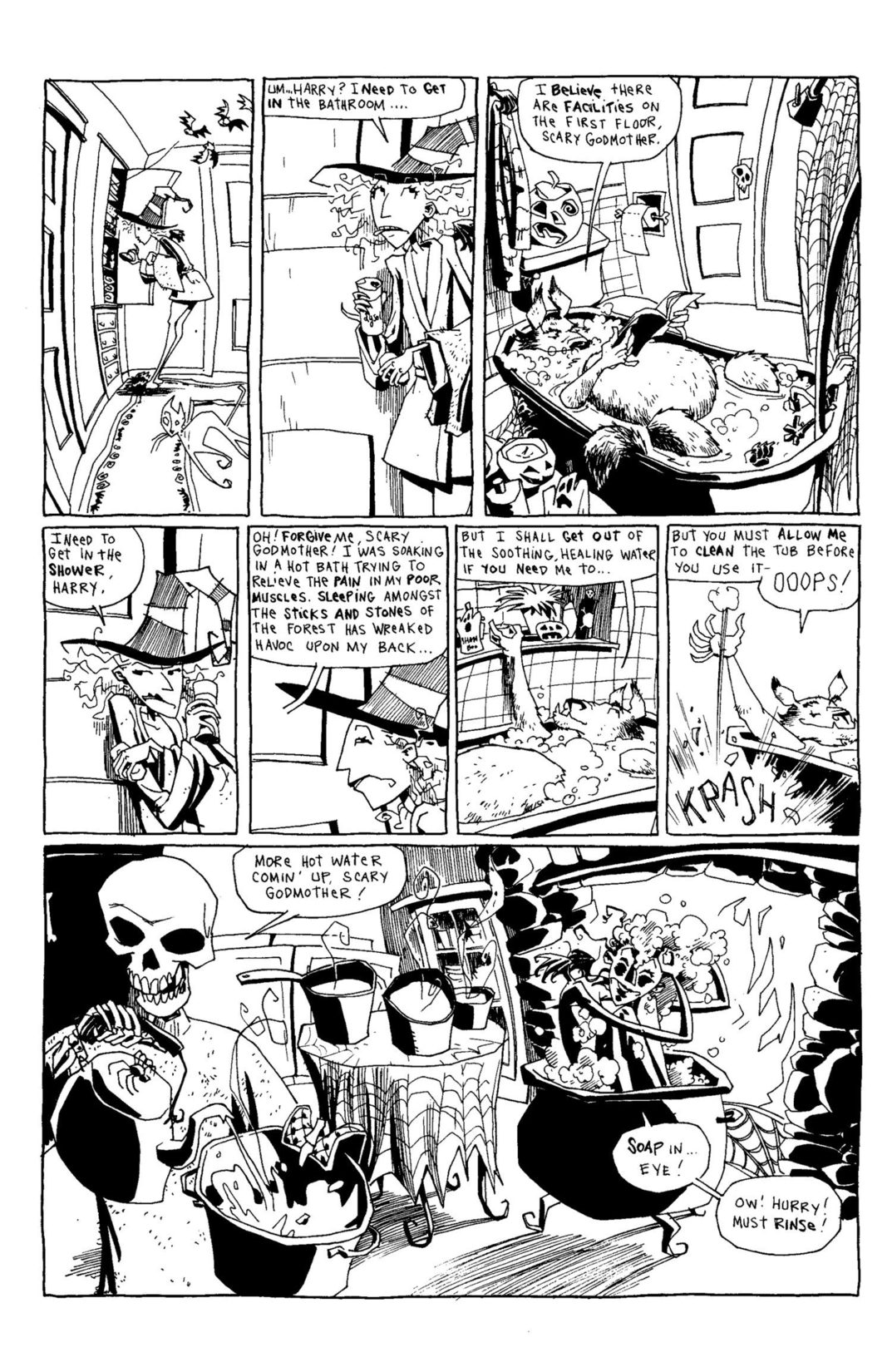Read online Scary Godmother Comic Book Stories comic -  Issue # TPB - 110