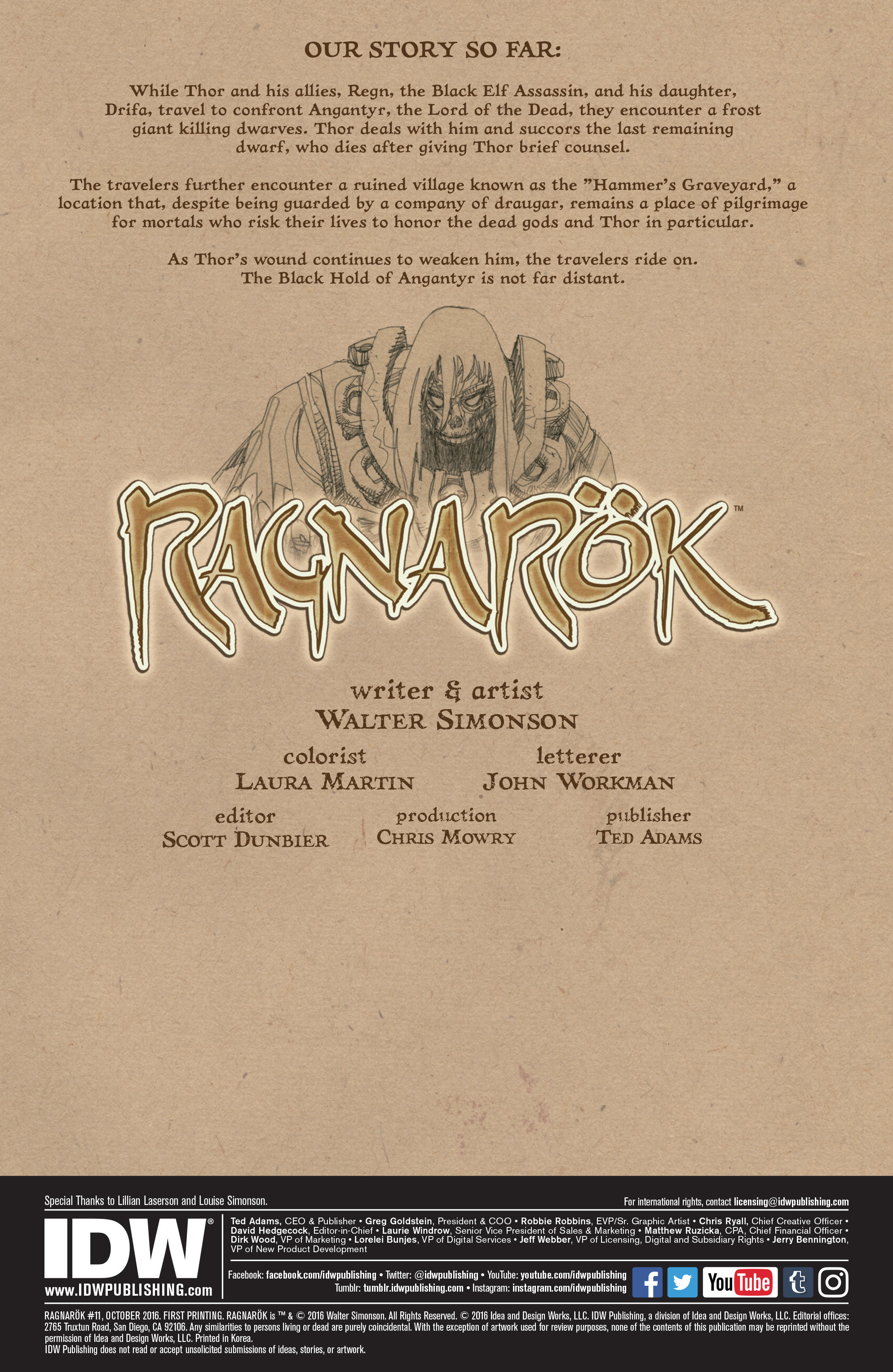 Read online Ragnarok comic -  Issue #11 - 2