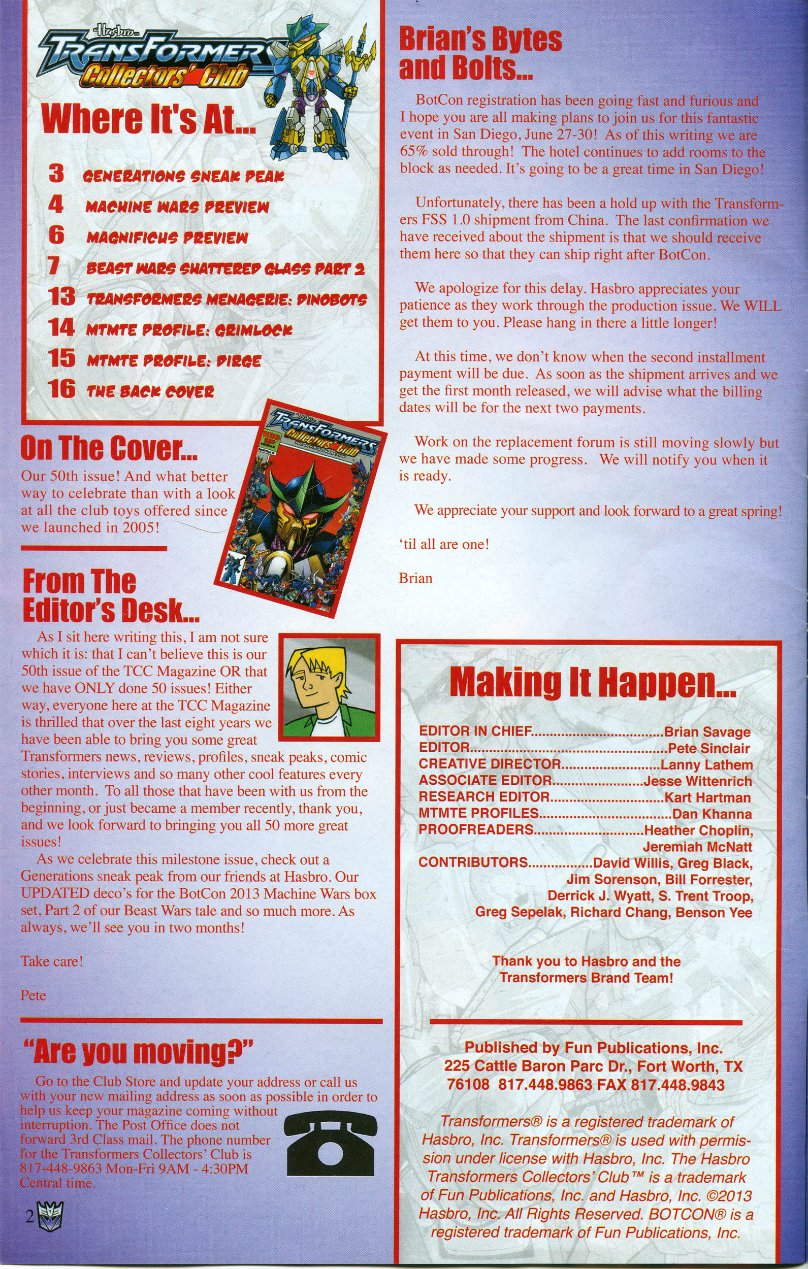Read online Transformers: Collectors' Club comic -  Issue #50 - 2