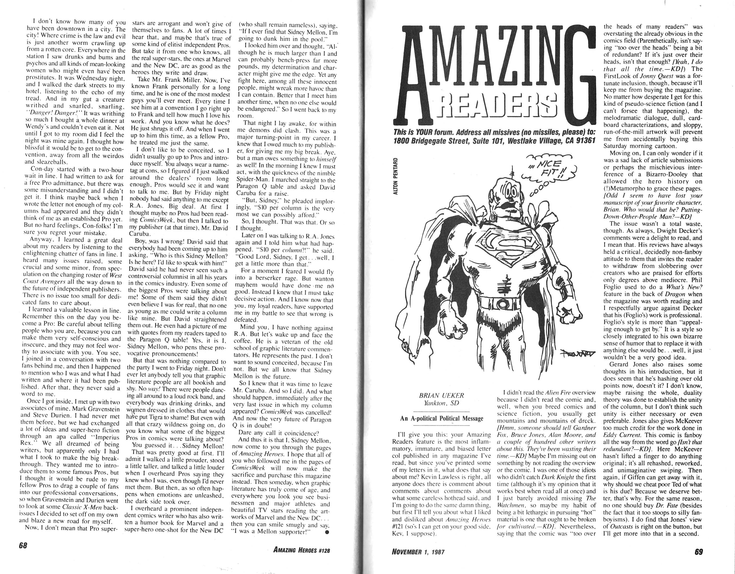 Read online Amazing Heroes comic -  Issue #128 - 35