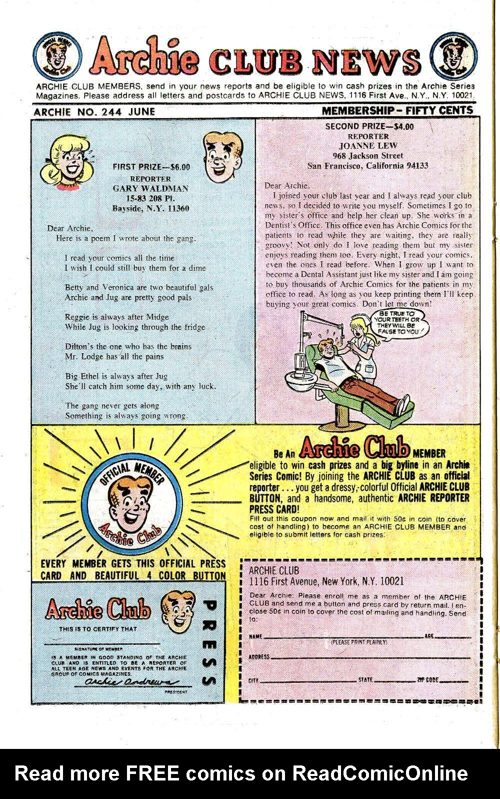 Read online Archie (1960) comic -  Issue #244 - 26
