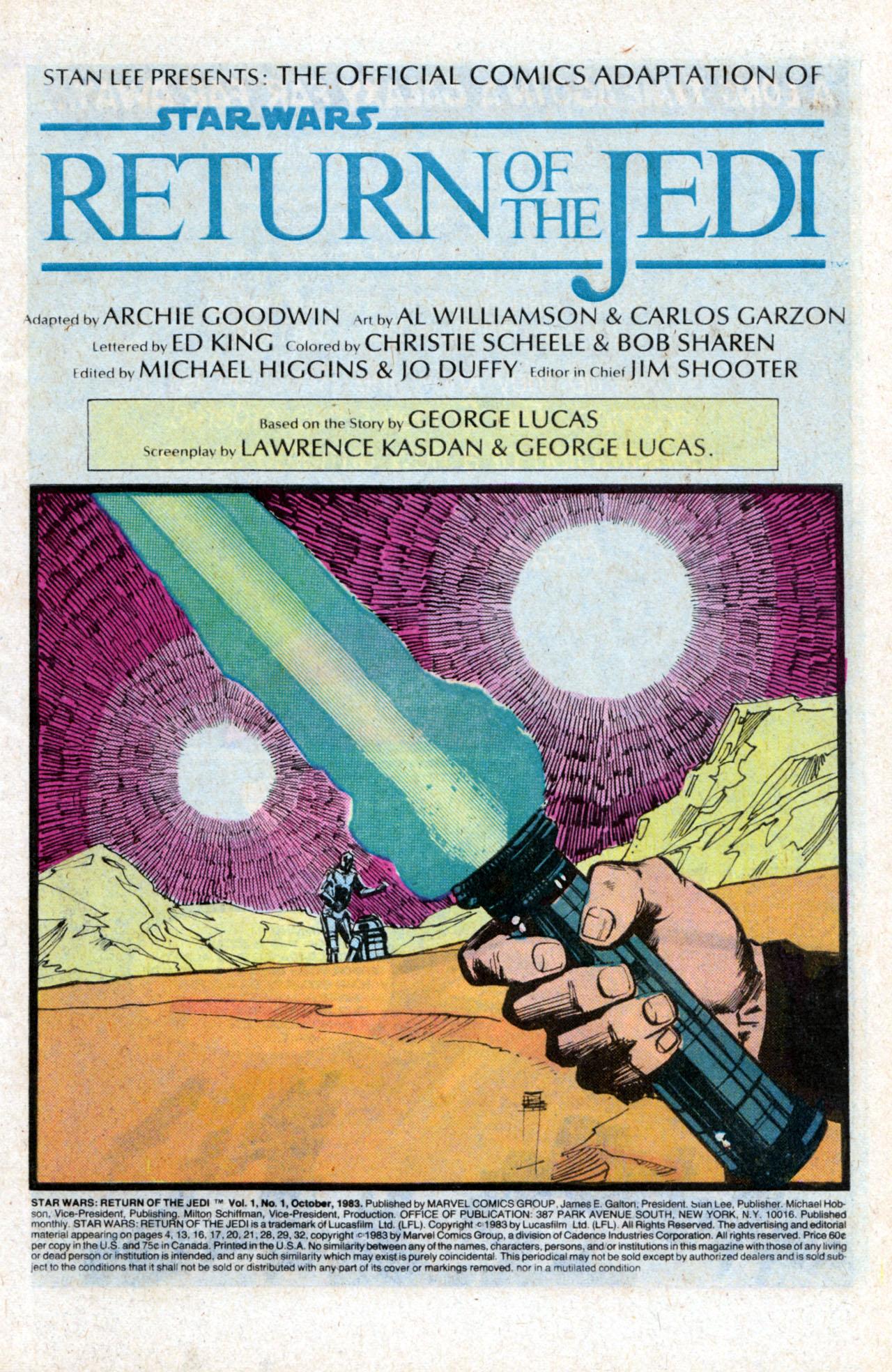 Read online Star Wars: Return of the Jedi comic -  Issue #1 - 3