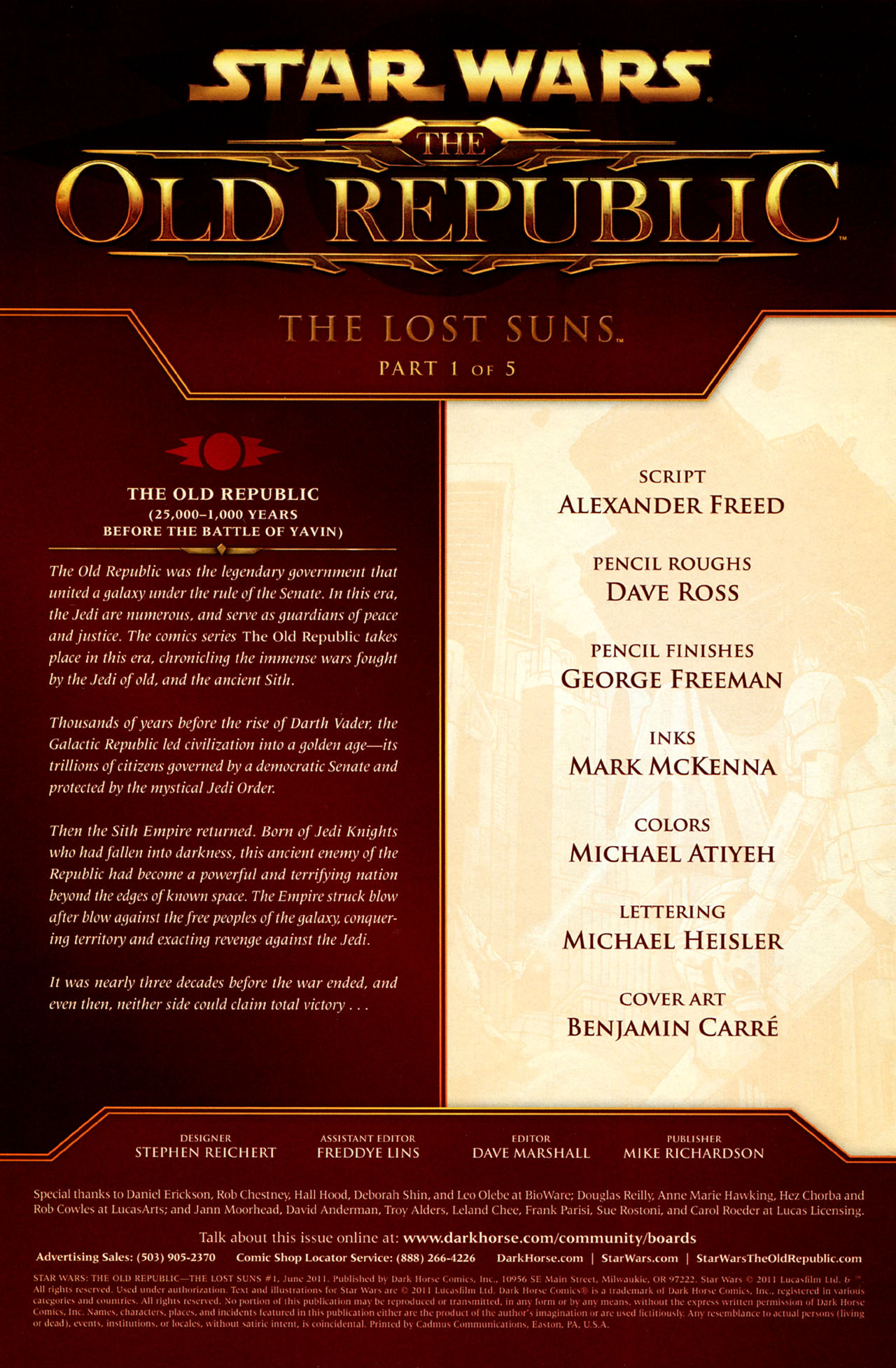 Read online Star Wars: The Old Republic - The Lost Suns comic -  Issue #1 - 2