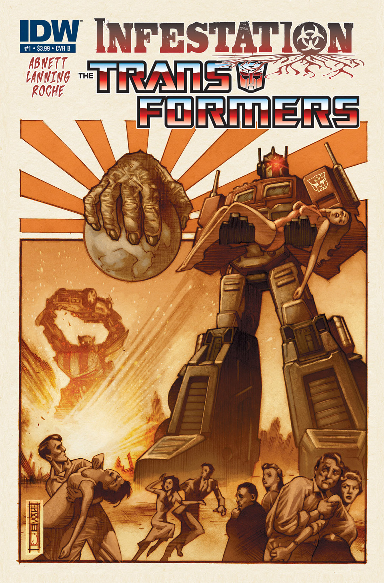 Read online Transformers: Infestation comic -  Issue #1 - 2