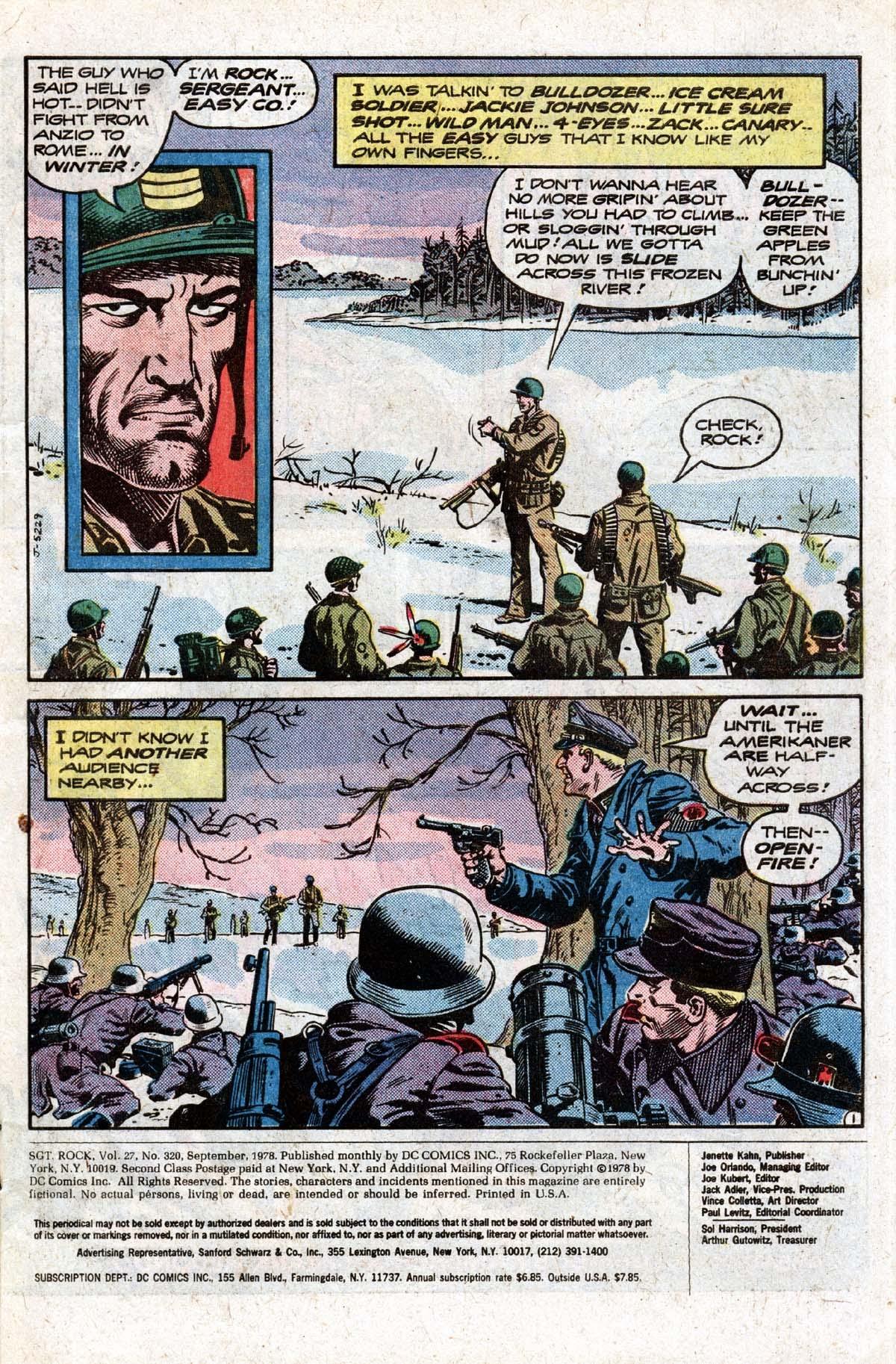 Read online Sgt. Rock comic -  Issue #320 - 2