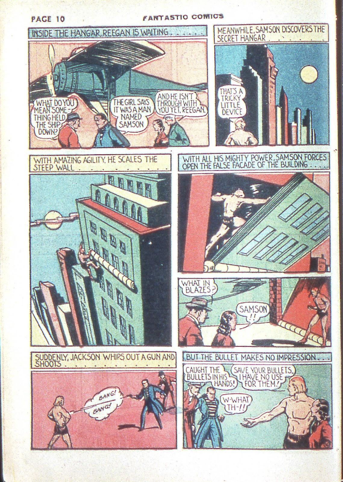 Read online Fantastic Comics comic -  Issue #3 - 13