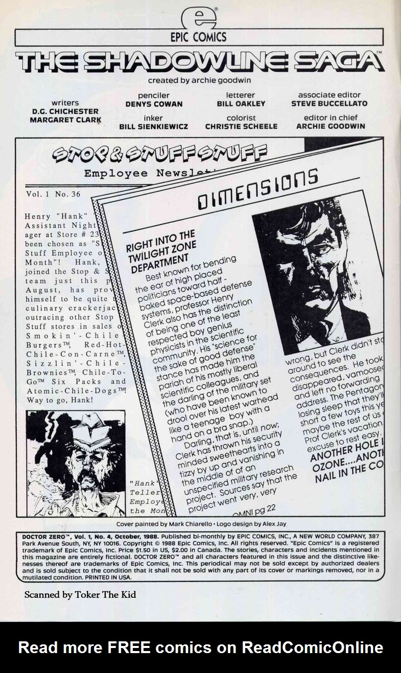 Read online Doctor Zero comic -  Issue #4 - 2