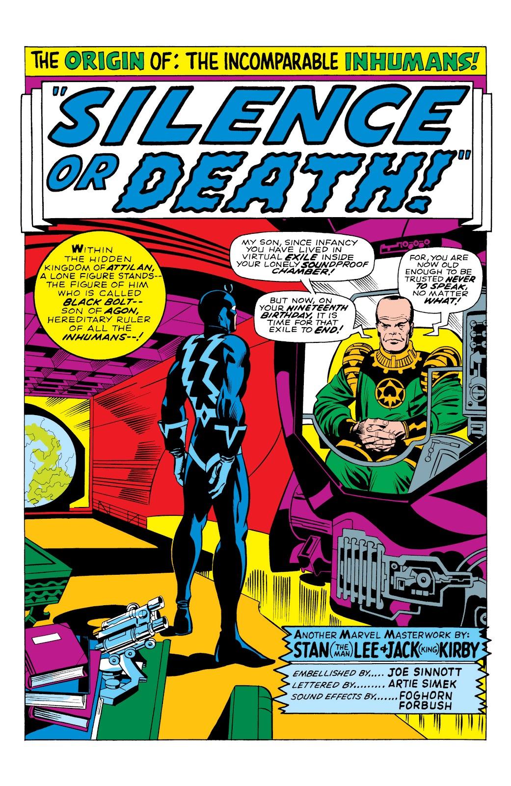 Read online Marvel Masterworks: The Inhumans comic -  Issue # TPB 1 (Part 1) - 23
