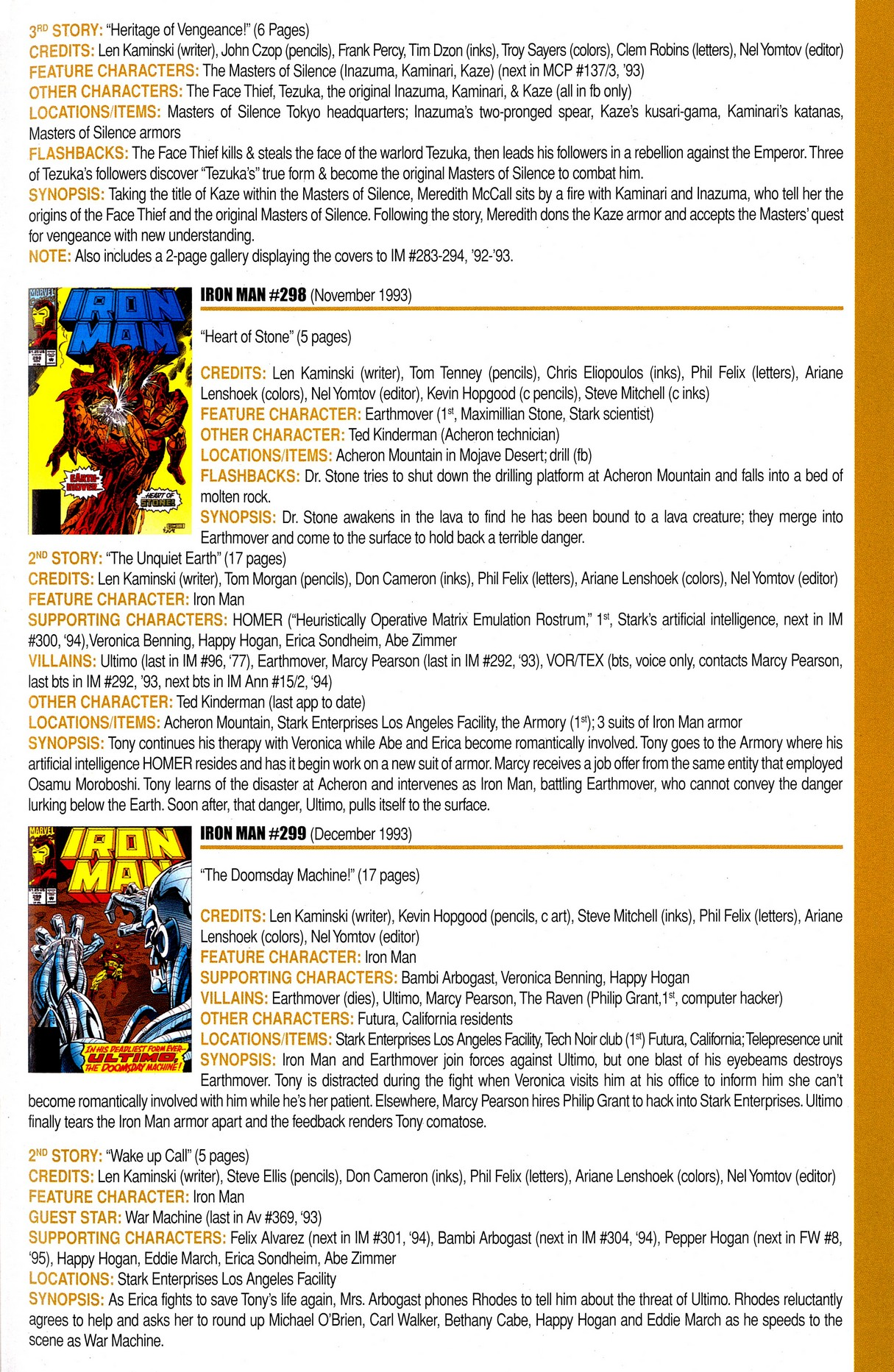 Read online Official Index to the Marvel Universe comic -  Issue #8 - 45
