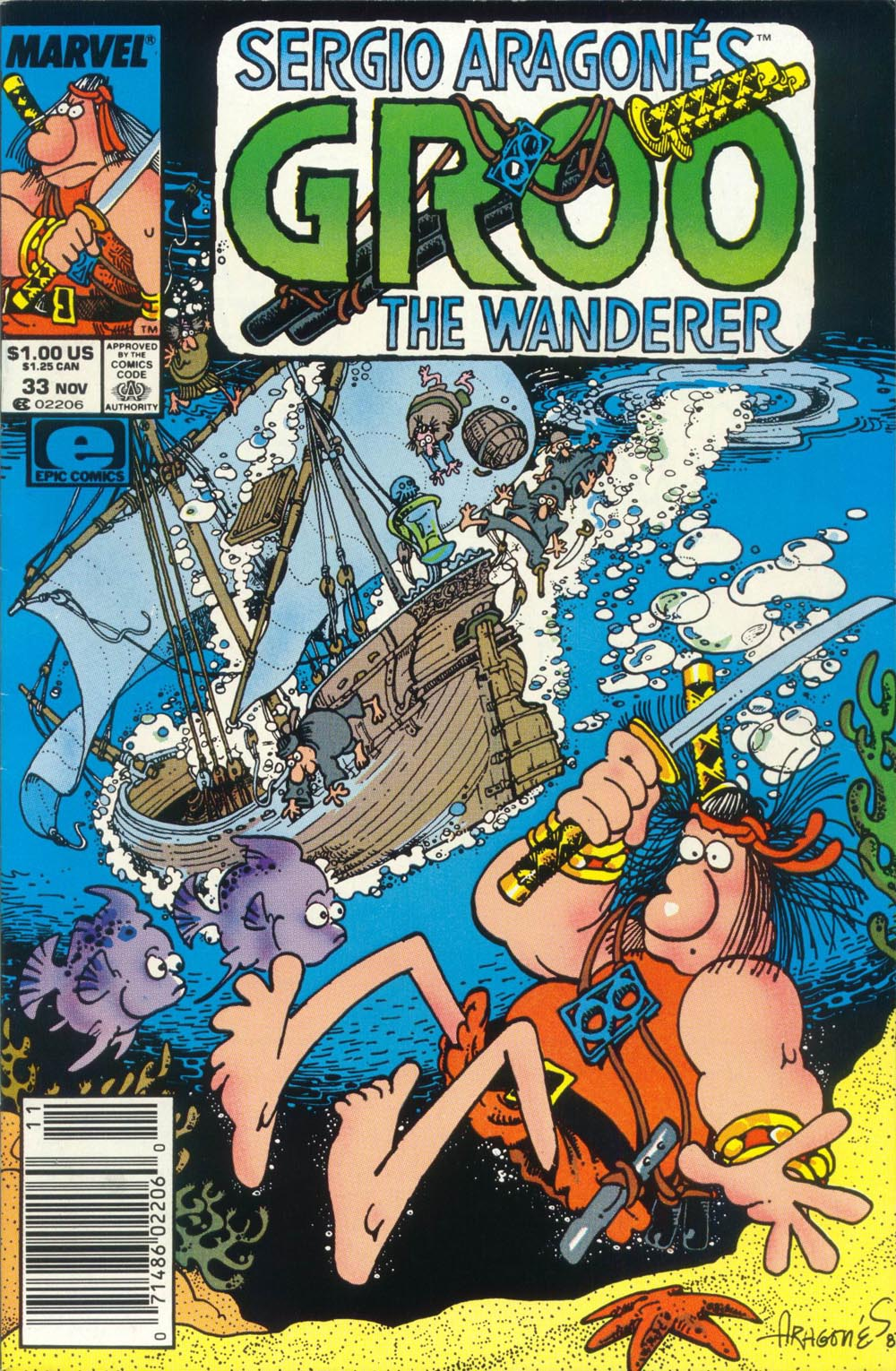Read online Sergio Aragonés Groo the Wanderer comic -  Issue #33 - 1