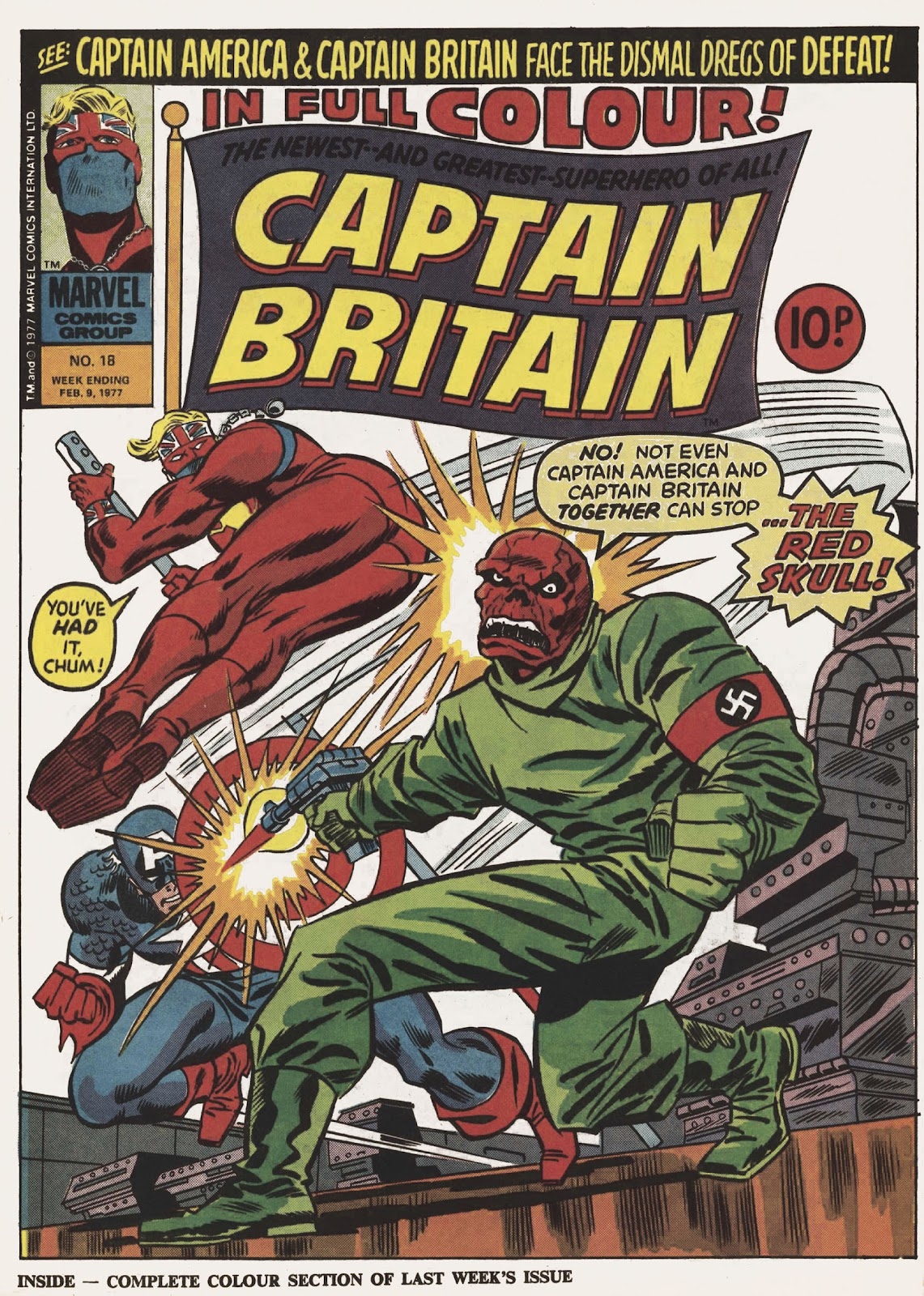 Captain Britain (1976) issue 18 - Page 1