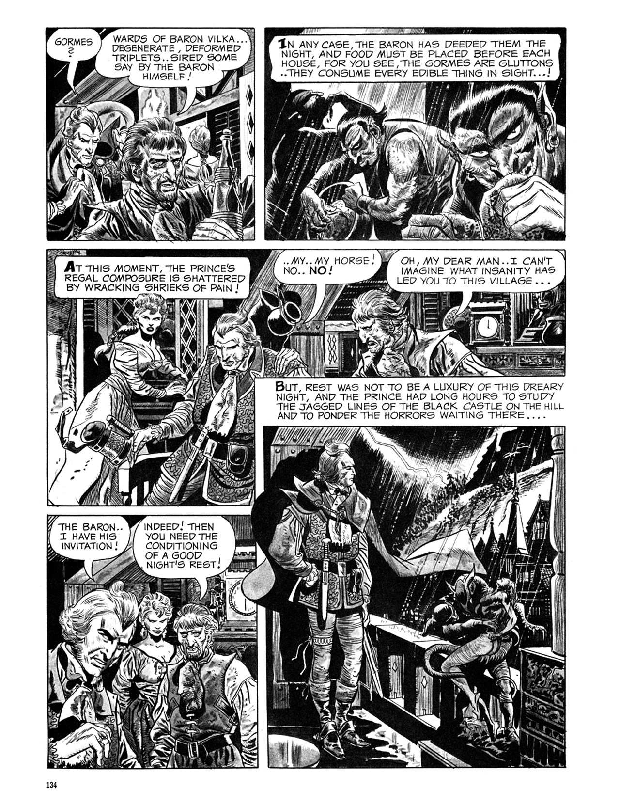 Read online Eerie Archives comic -  Issue # TPB 6 - 134