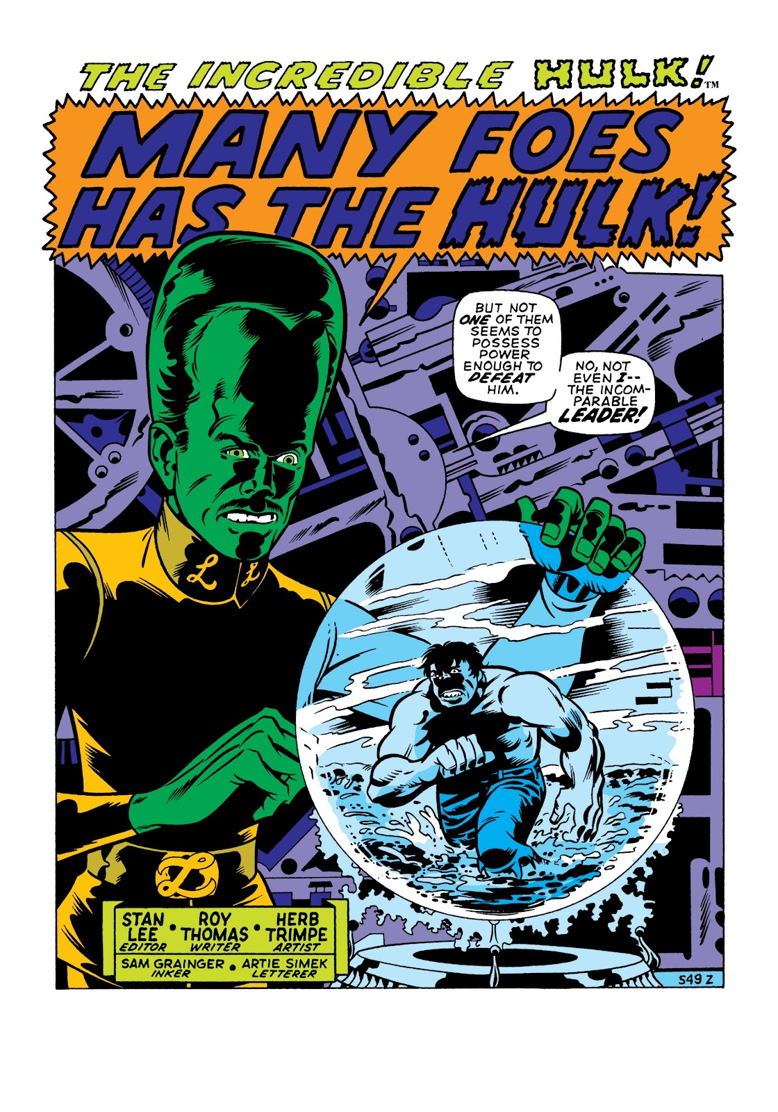 Read online Marvel Masterworks: The Incredible Hulk comic -  Issue # TPB 7 (Part 1) - 88