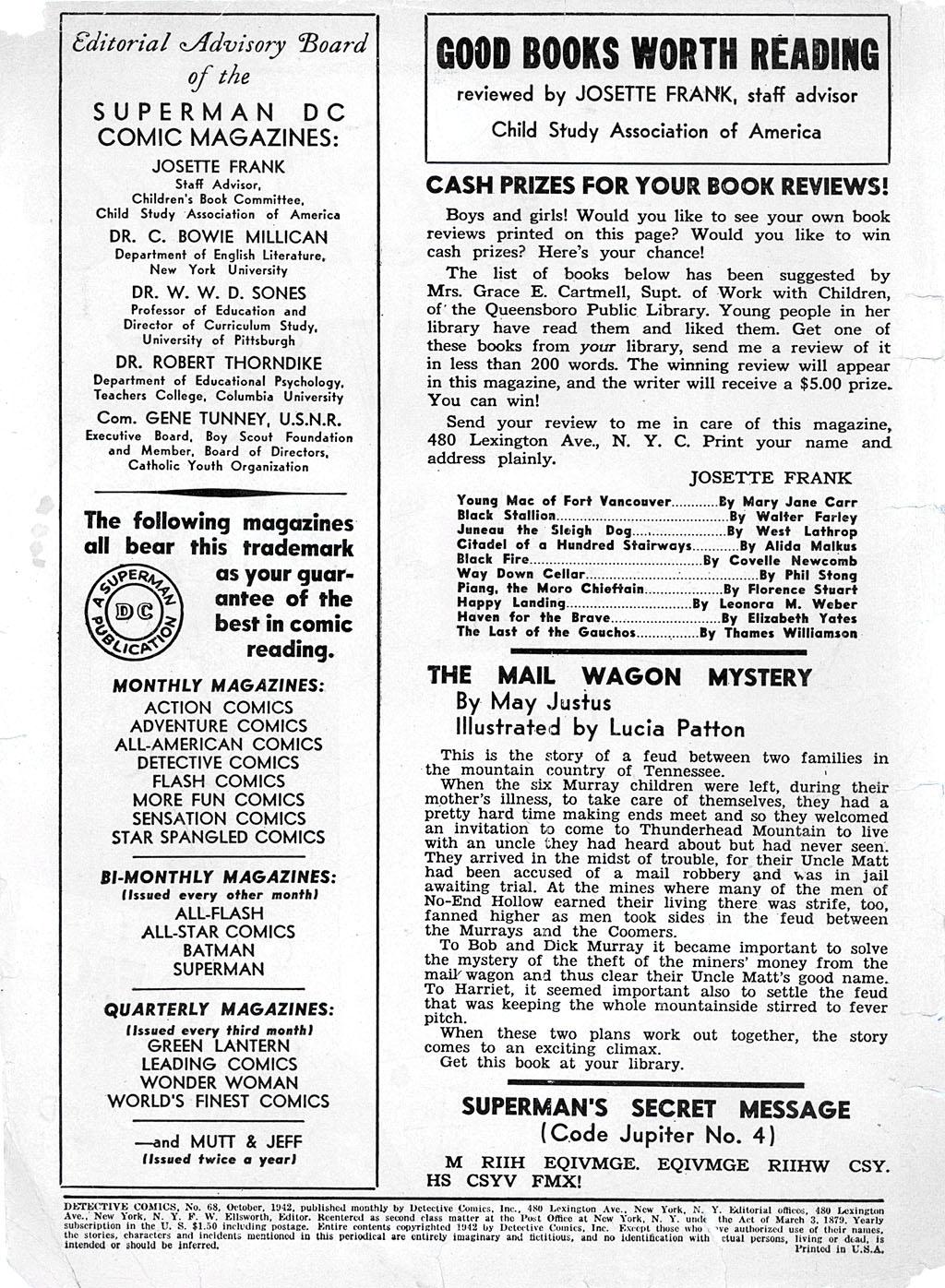Read online Detective Comics (1937) comic -  Issue #68 - 2