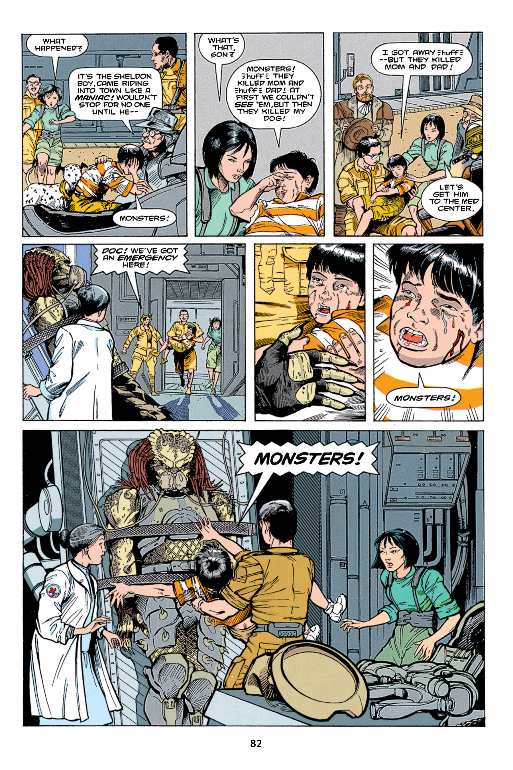 Read online Aliens vs. Predator Omnibus comic -  Issue # _TPB 1 Part 1 - 82