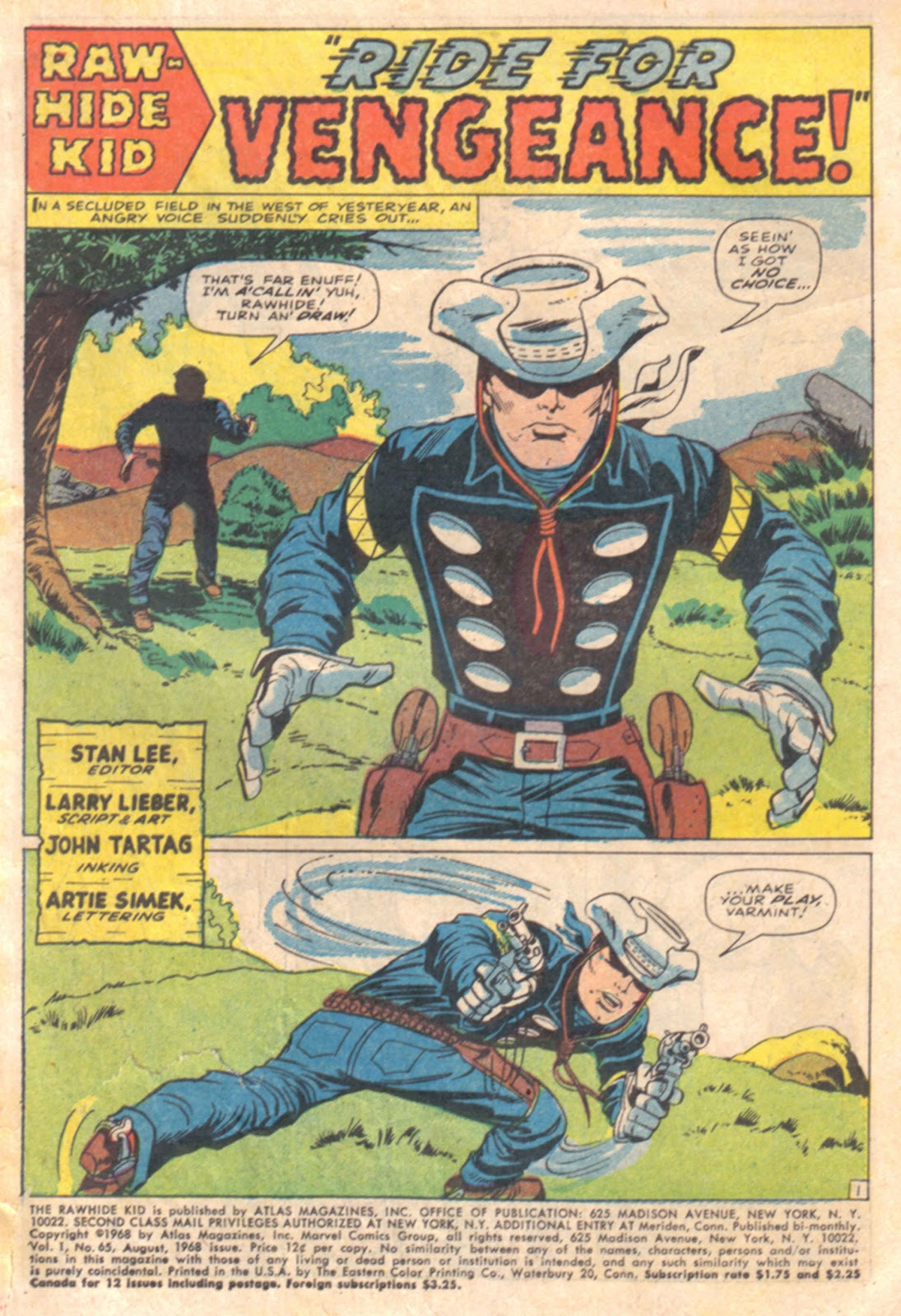 The Rawhide Kid (1955) issue 65 - Page 3