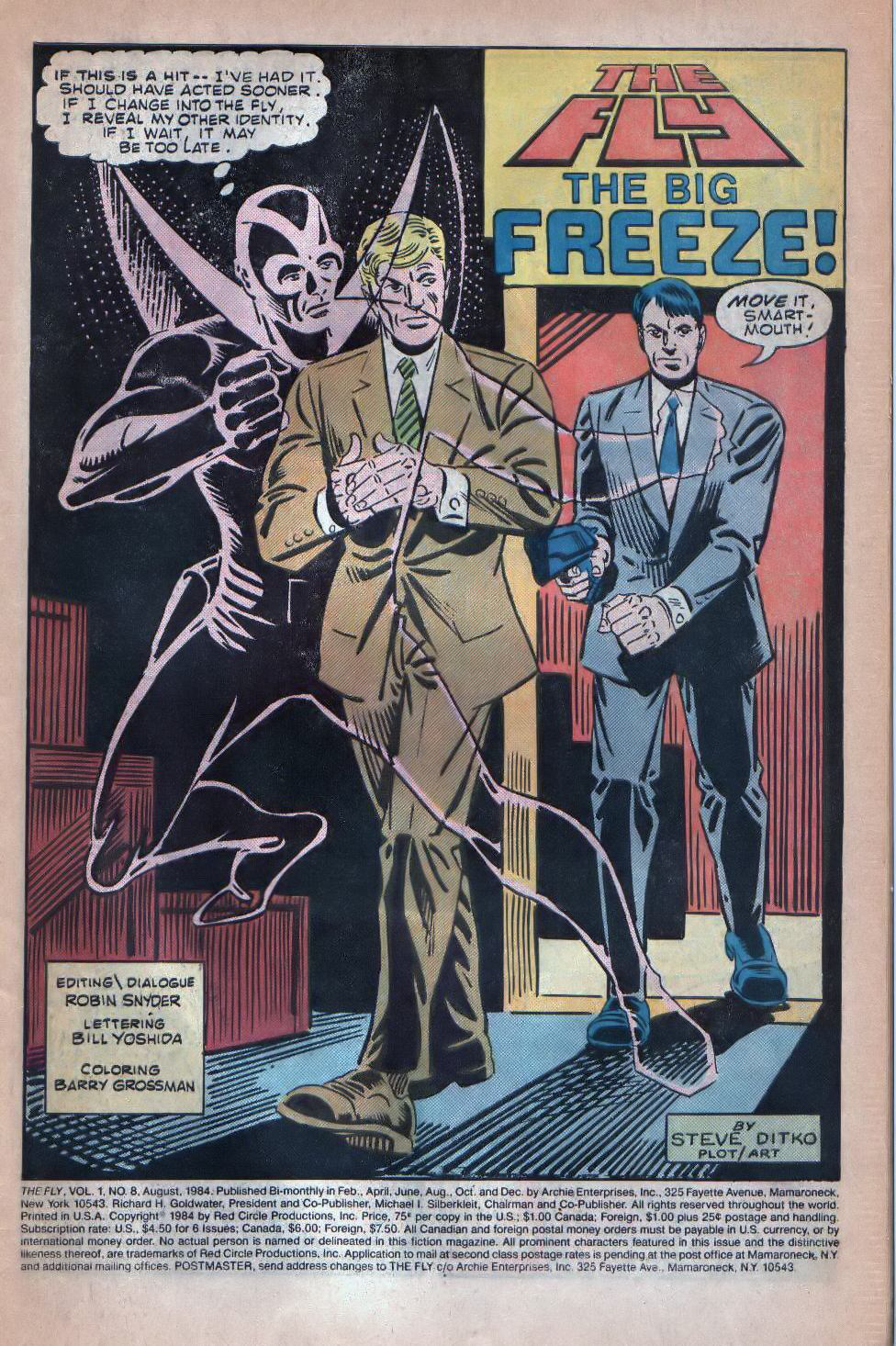 Read online The Fly (1983) comic -  Issue #8 - 2