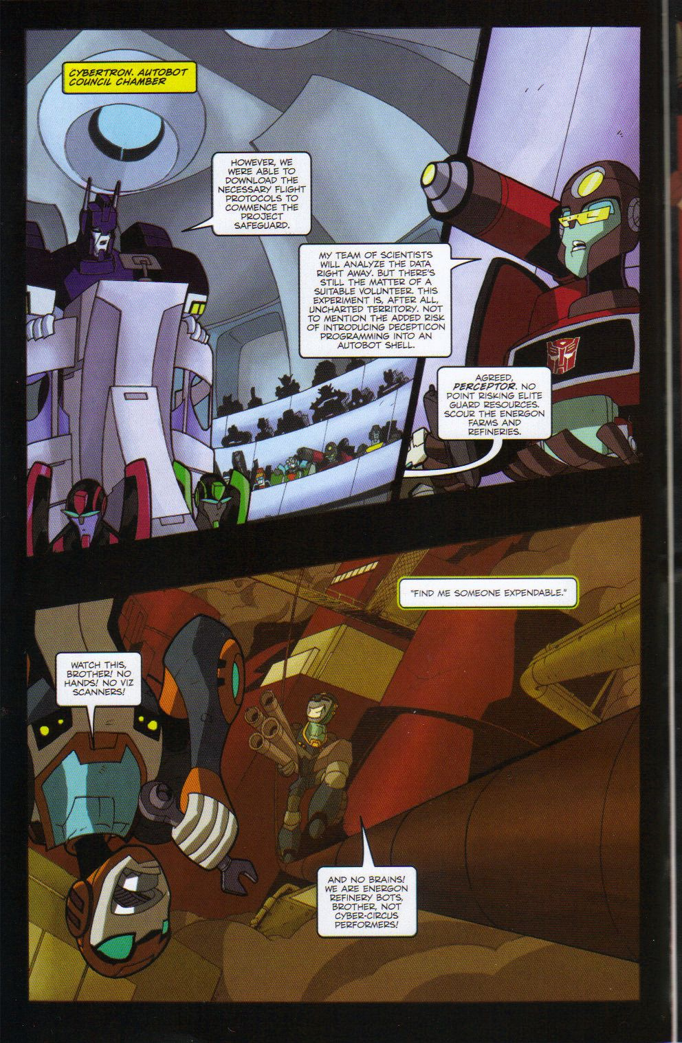 Read online Transformers Animated: The Arrival comic -  Issue #6 - 6
