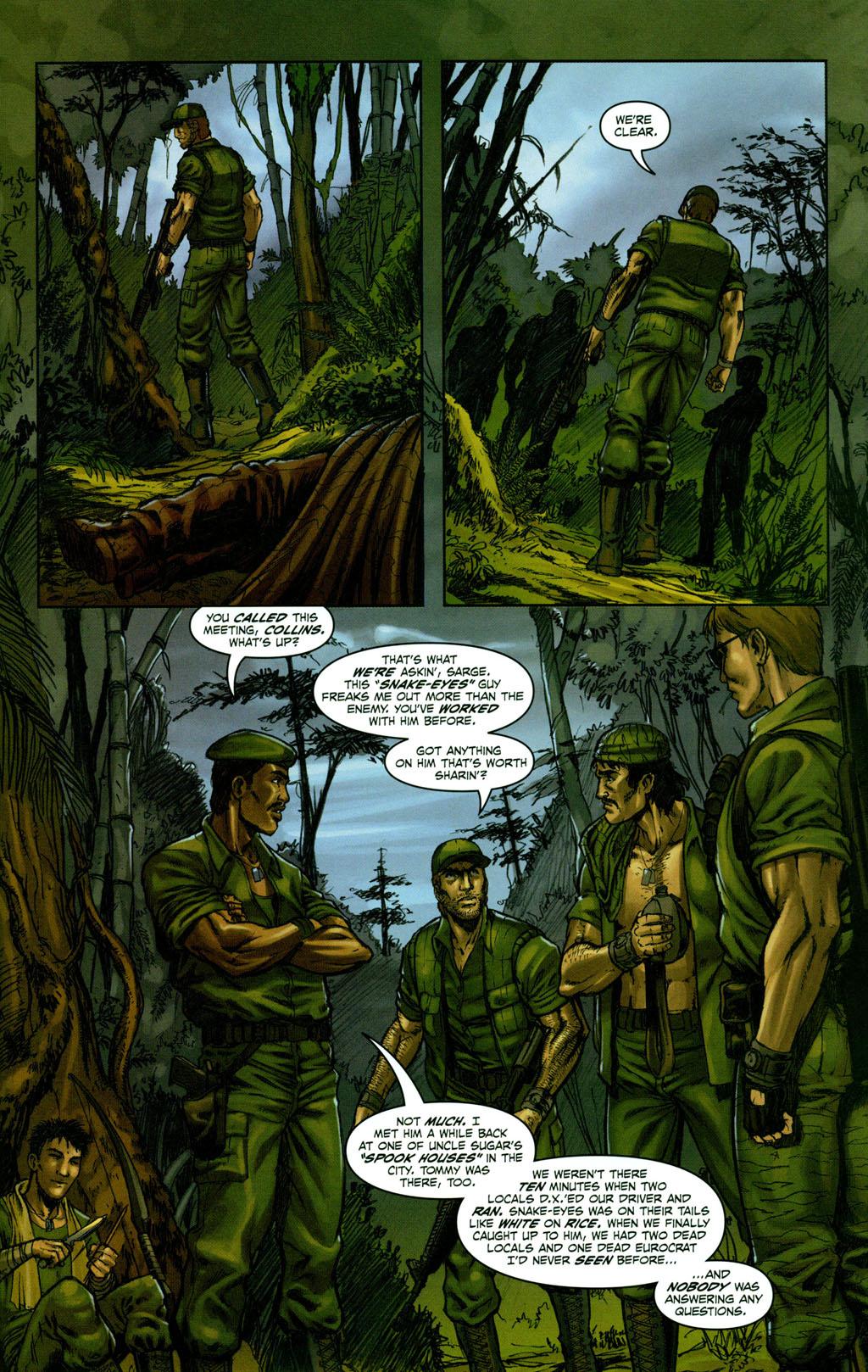 Read online Snake Eyes: Declassified comic -  Issue #1 - 9