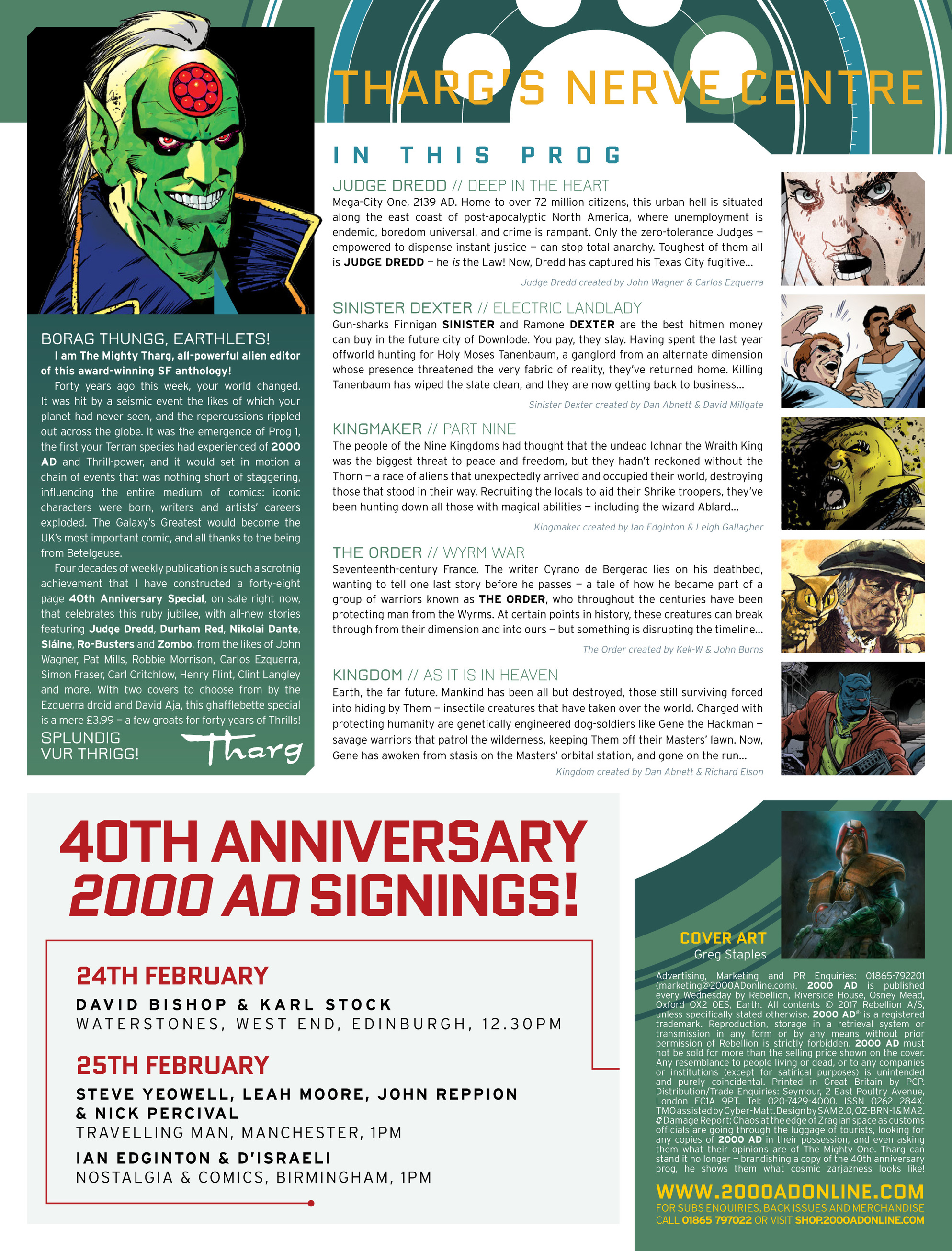 Read online 2000 AD comic -  Issue #2019 - 2