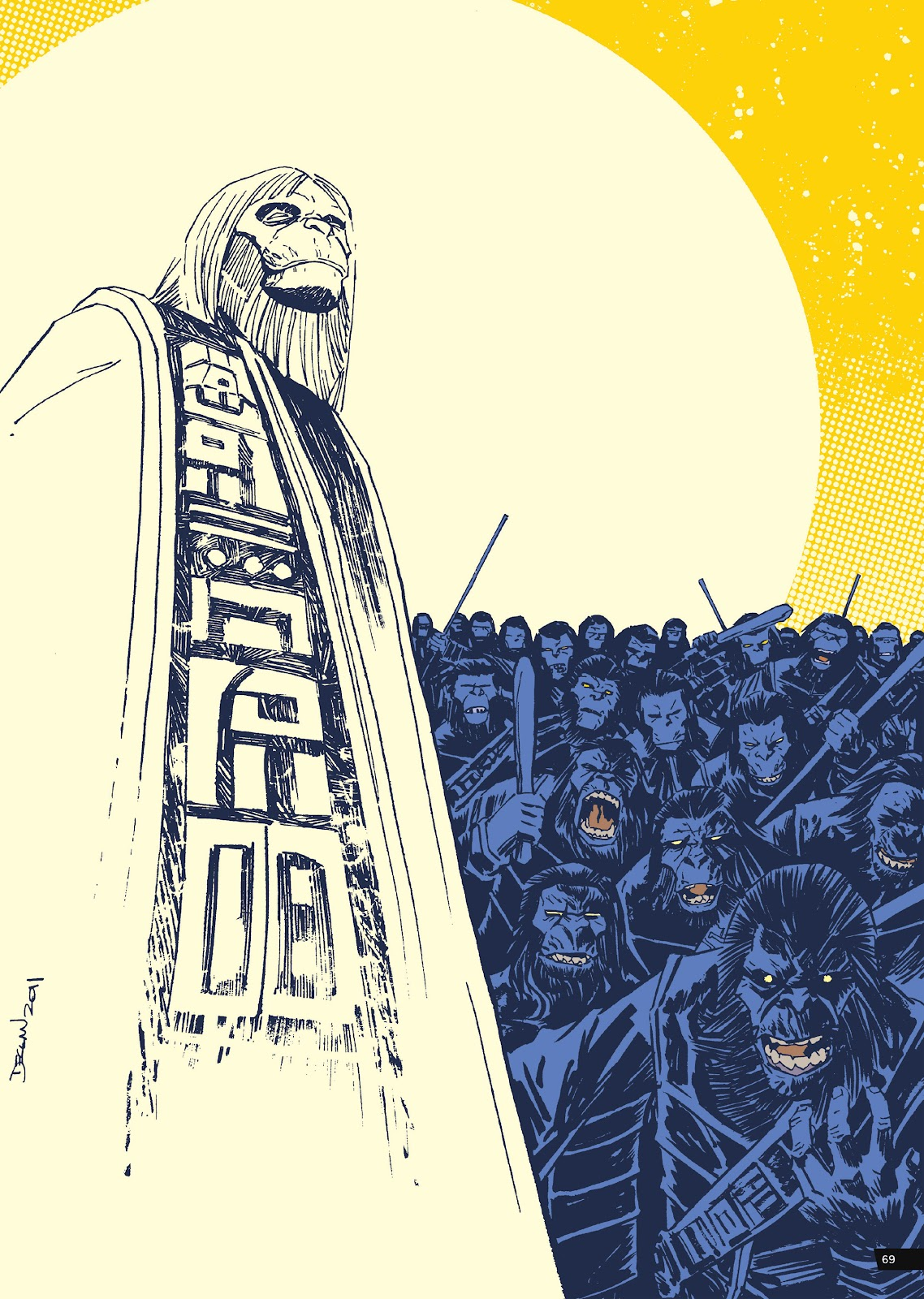 Read online Planet of the Apes Artist Tribute comic -  Issue # TPB - 69