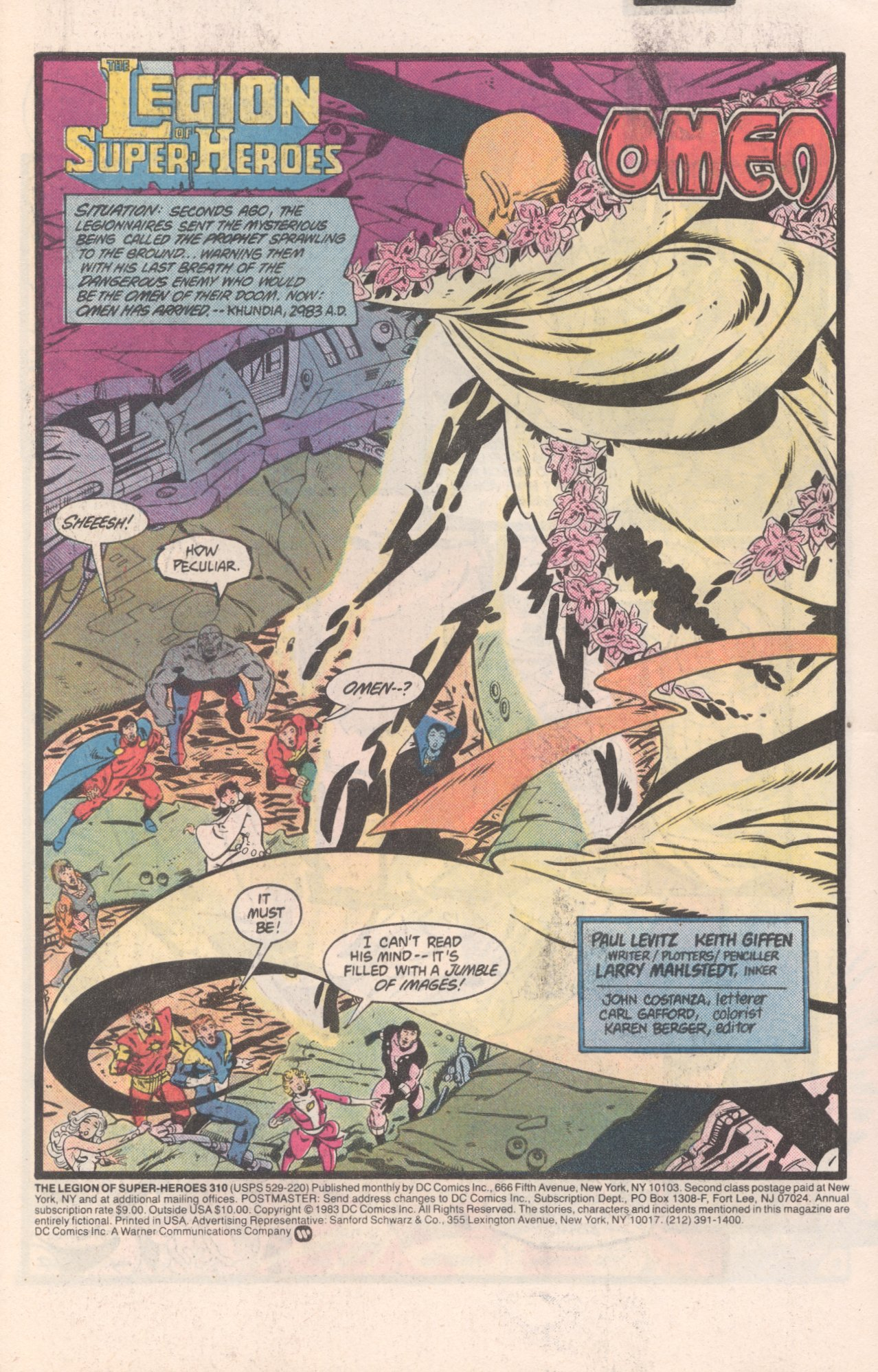 Legion of Super-Heroes (1980) 310 Page 1