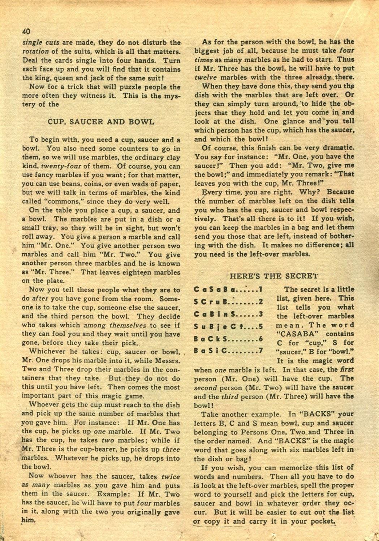 Read online Super-Magician Comics comic -  Issue #14 - 39