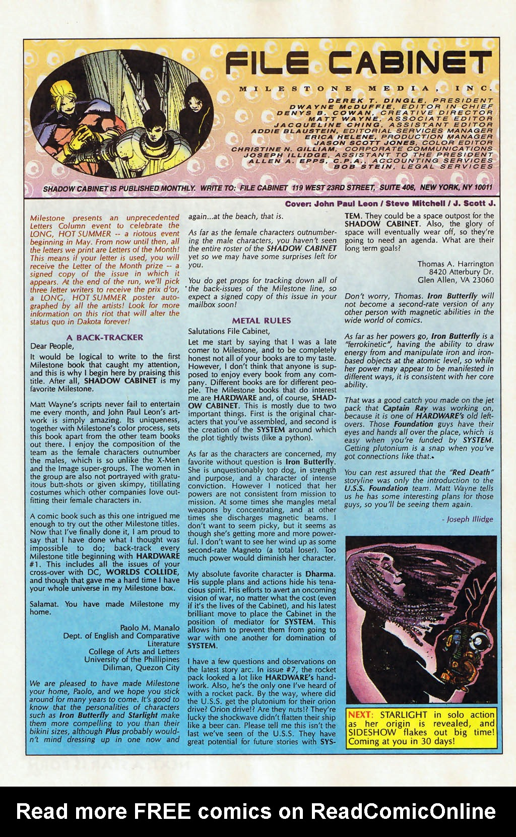 Read online Shadow Cabinet comic -  Issue #12 - 24
