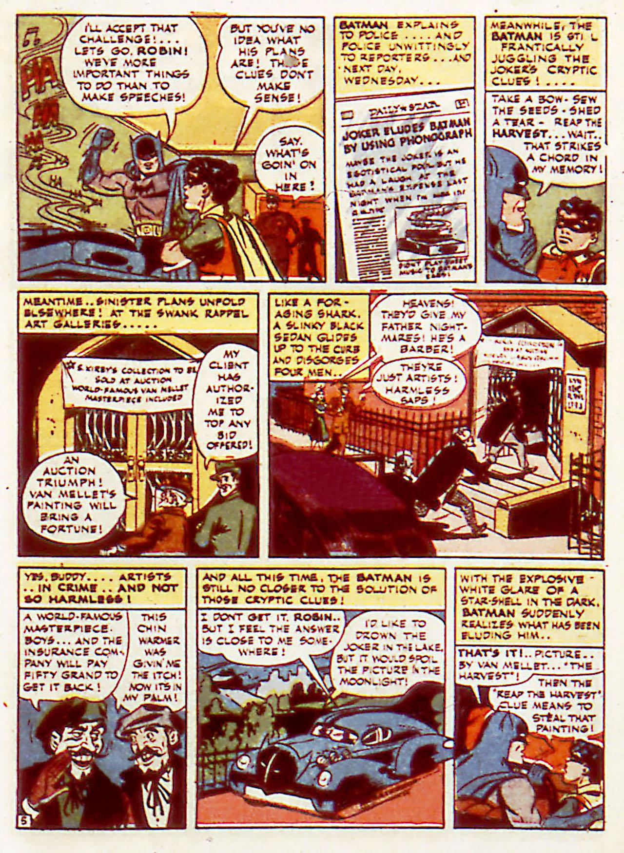 Read online Detective Comics (1937) comic -  Issue #71 - 7