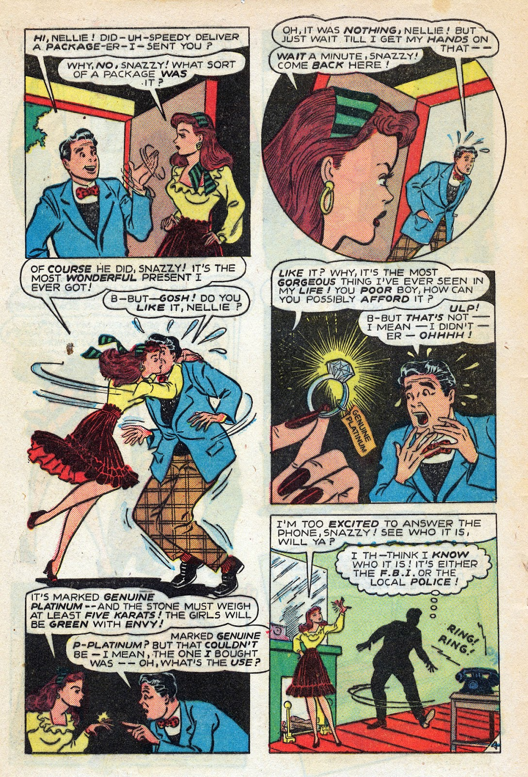 Read online Nellie The Nurse (1945) comic -  Issue #14 - 6
