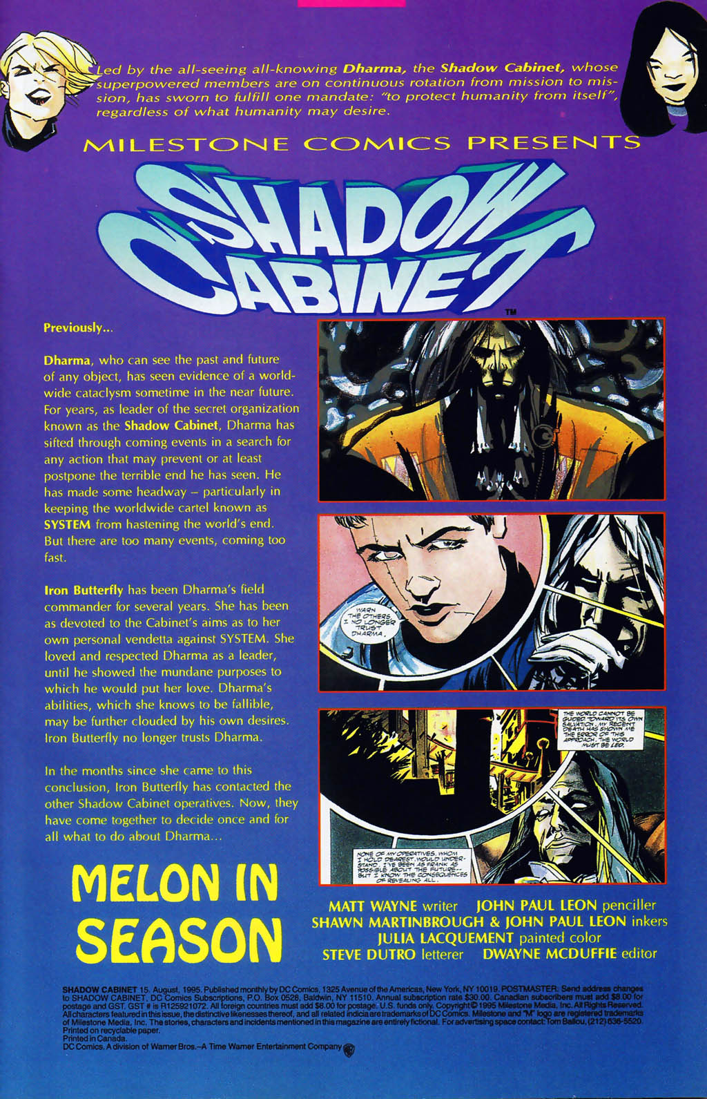 Read online Shadow Cabinet comic -  Issue #15 - 2