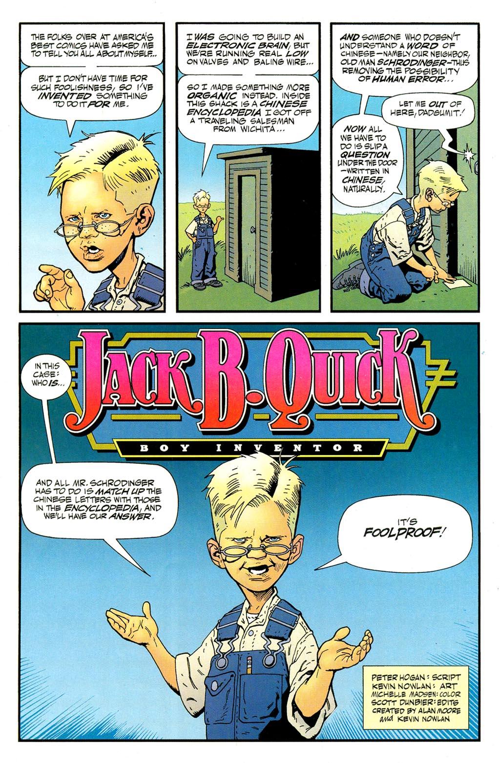 Read online ABC: A-Z, Tom Strong and Jack B. Quick comic -  Issue #ABC: A-Z, Tom Strong and Jack B. Quick Full - 12