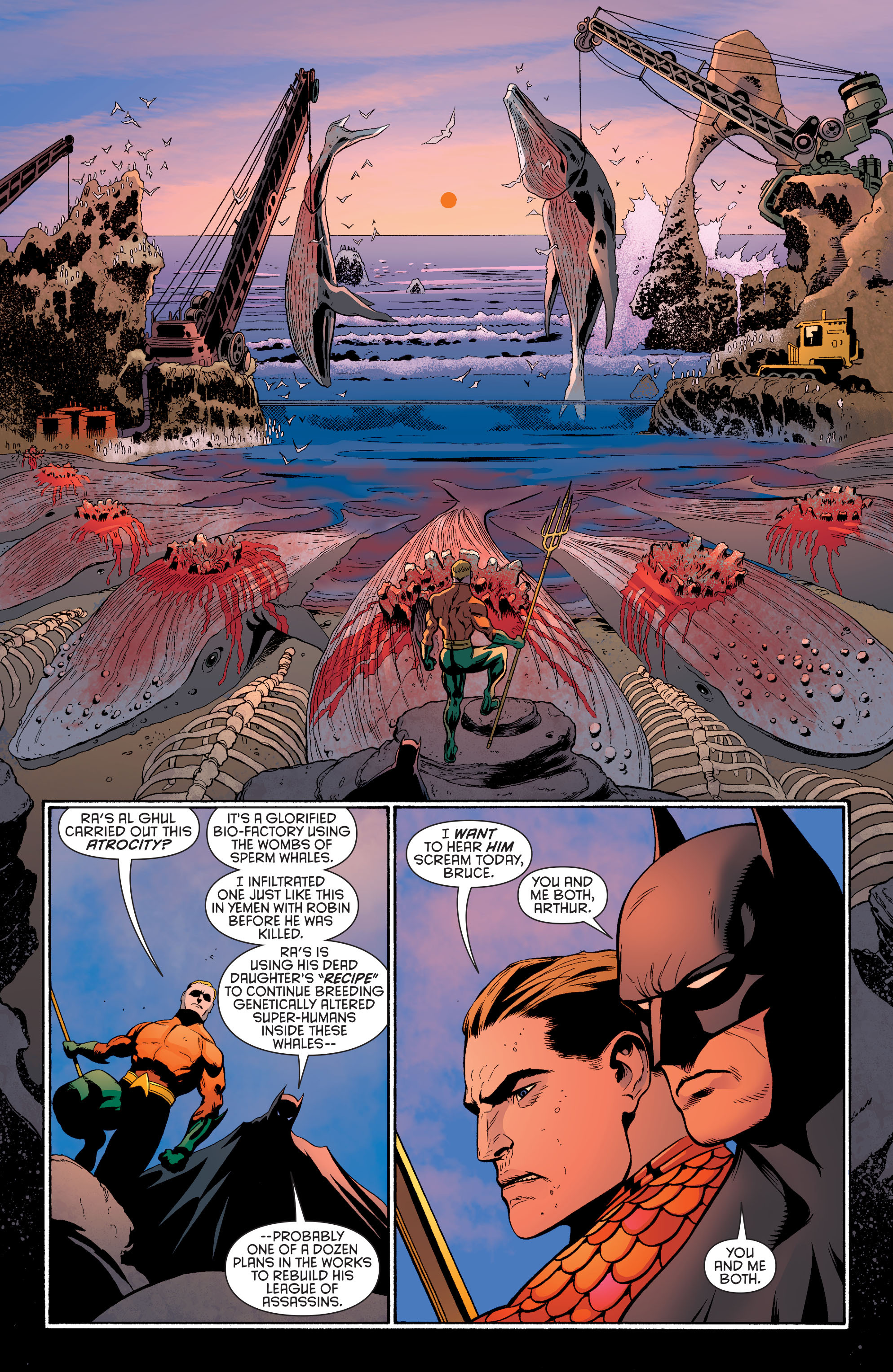 Read online Batman and Robin (2011) comic -  Issue #29 - Batman and Aquaman - 9