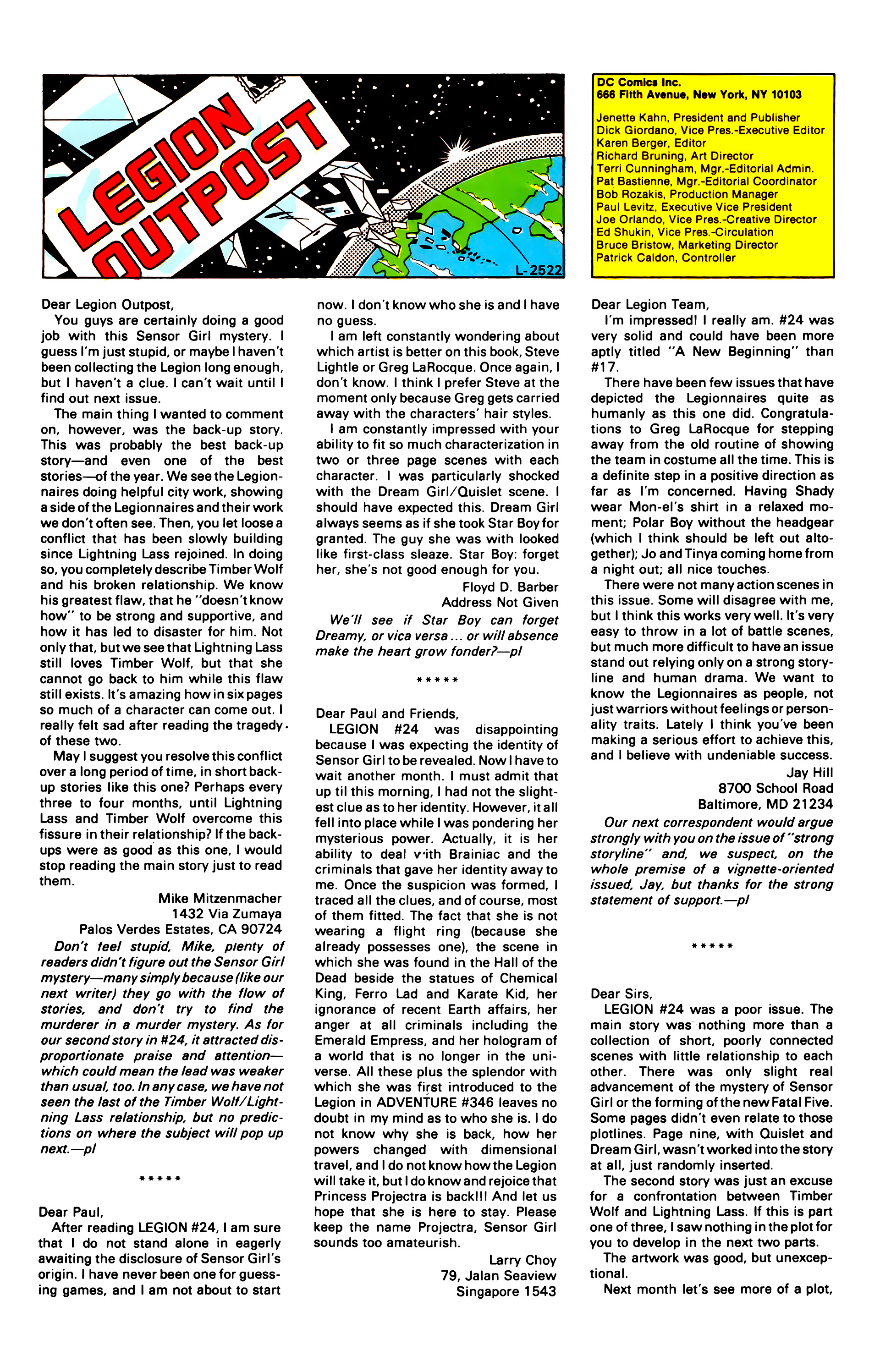 Legion of Super-Heroes (1984) 30 Page 29