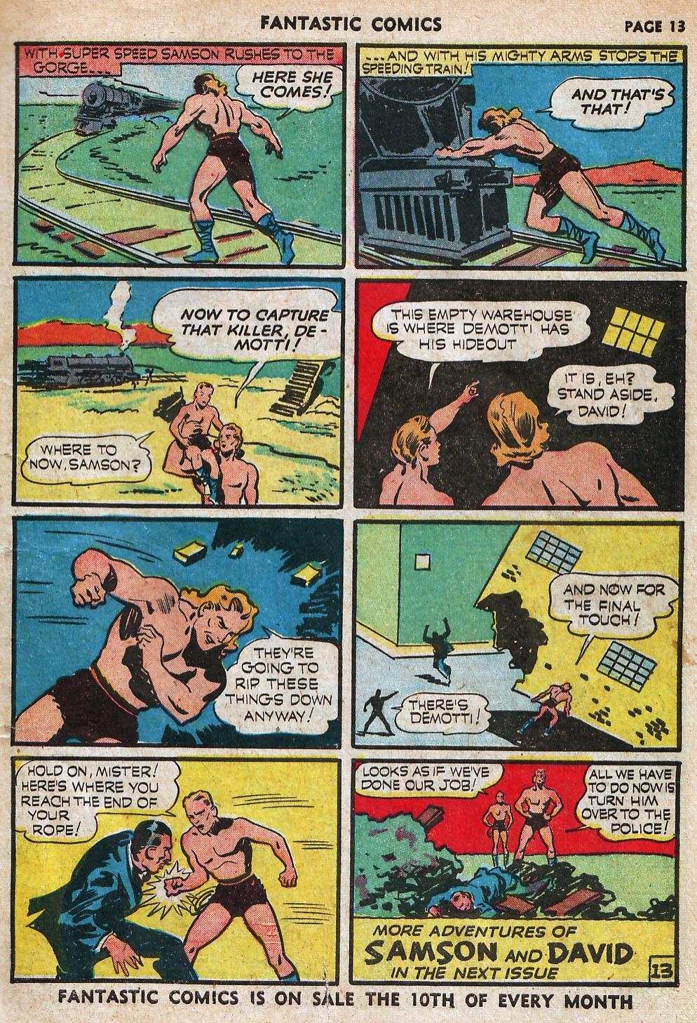 Read online Fantastic Comics comic -  Issue #18 - 15