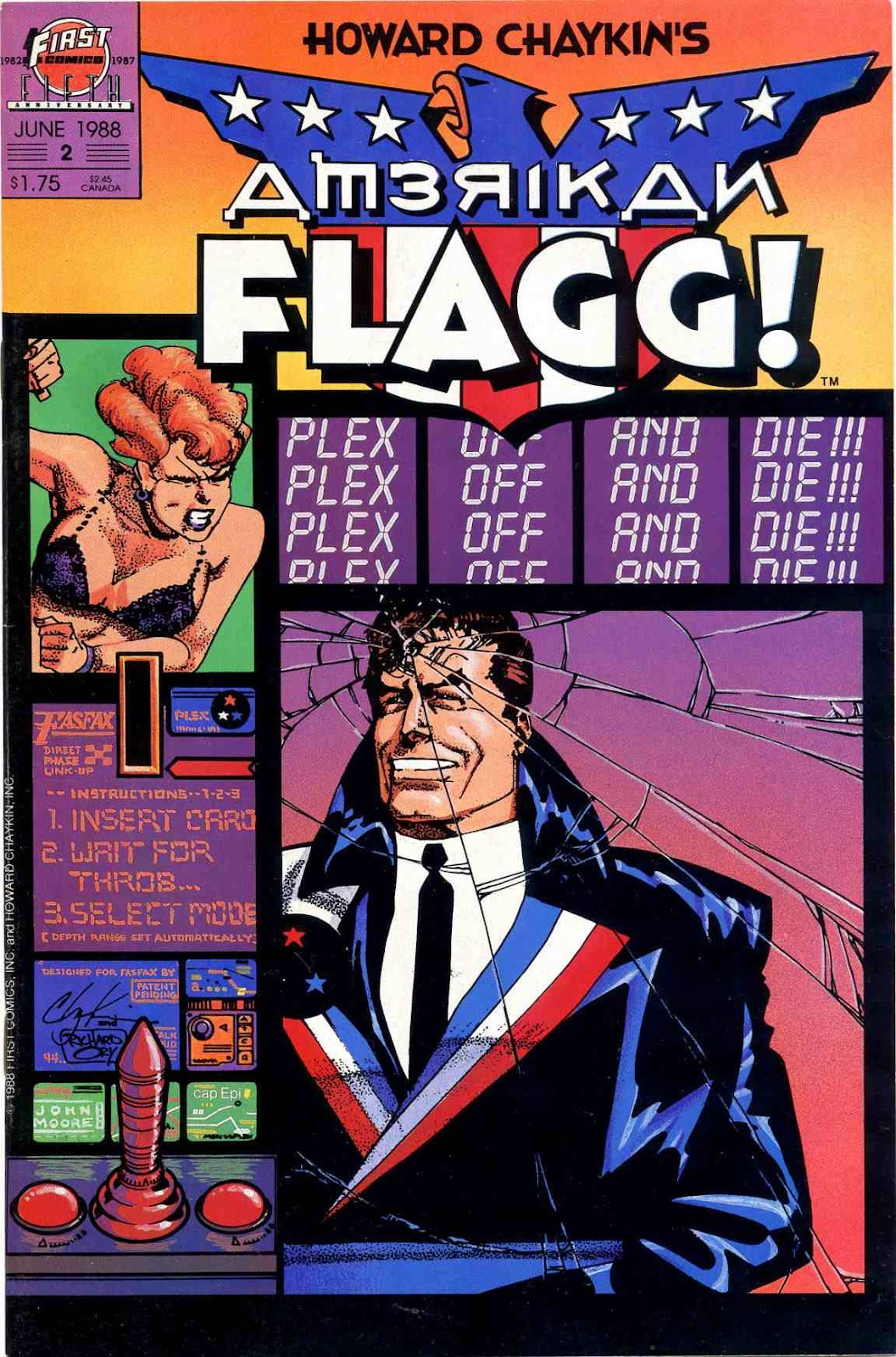 Howard Chaykin's American Flagg issue 2 - Page 1