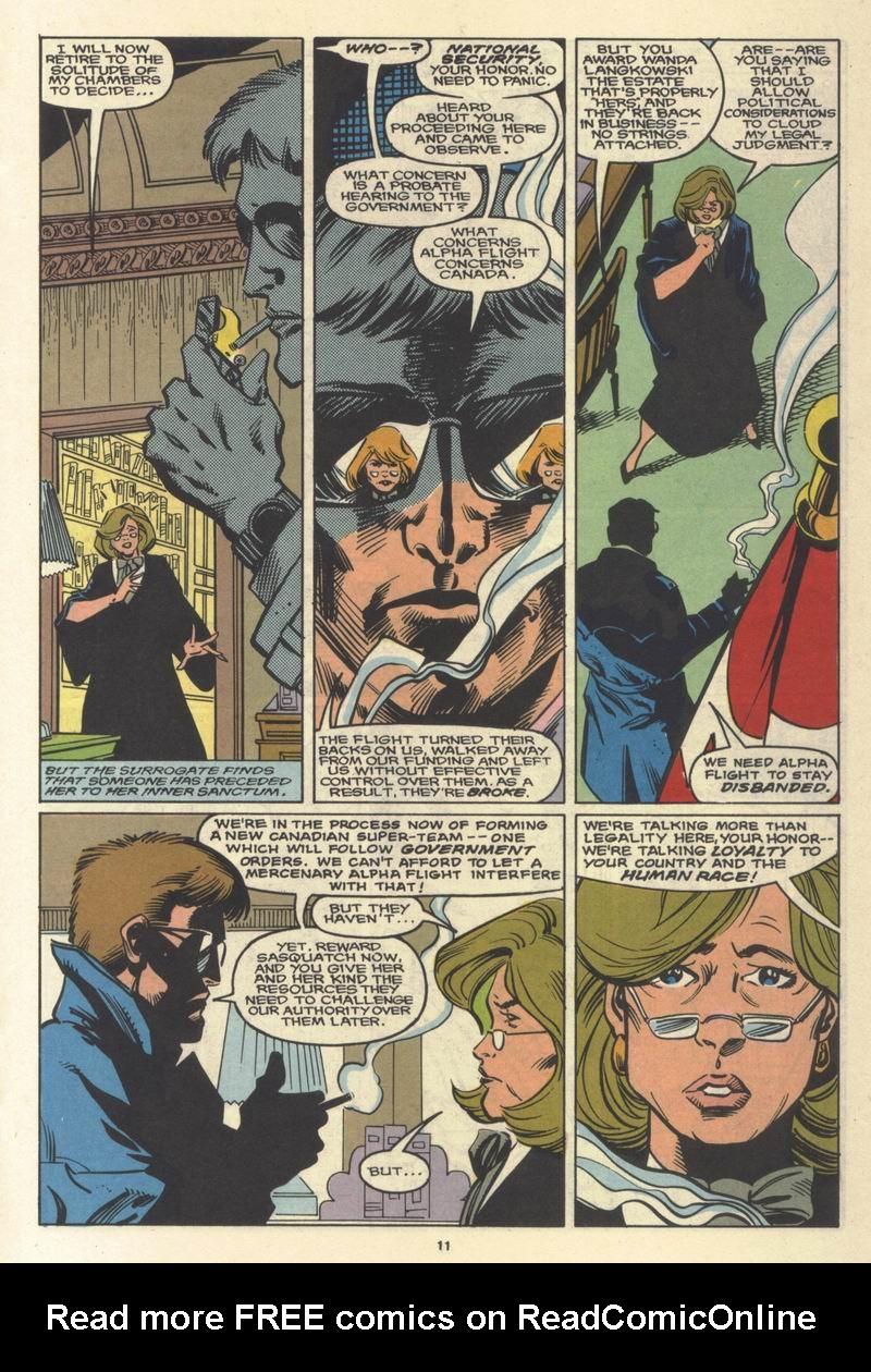 Read online Alpha Flight (1983) comic -  Issue #64 - 12