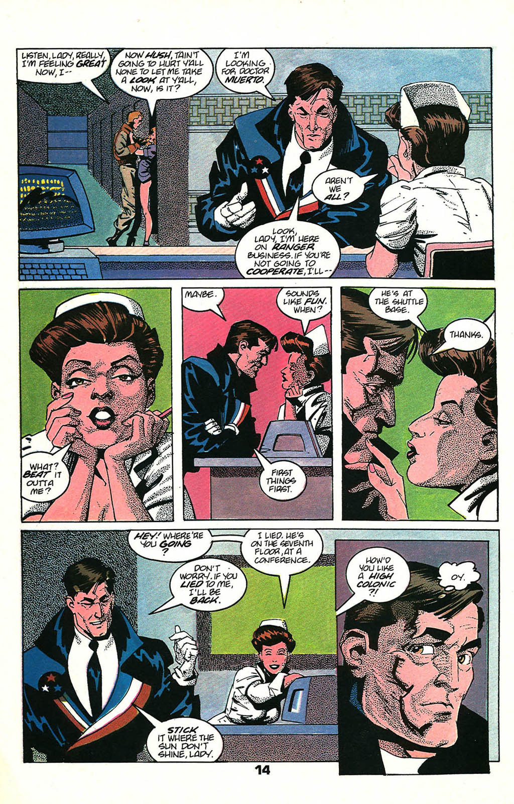 Read online American Flagg! comic -  Issue #48 - 18