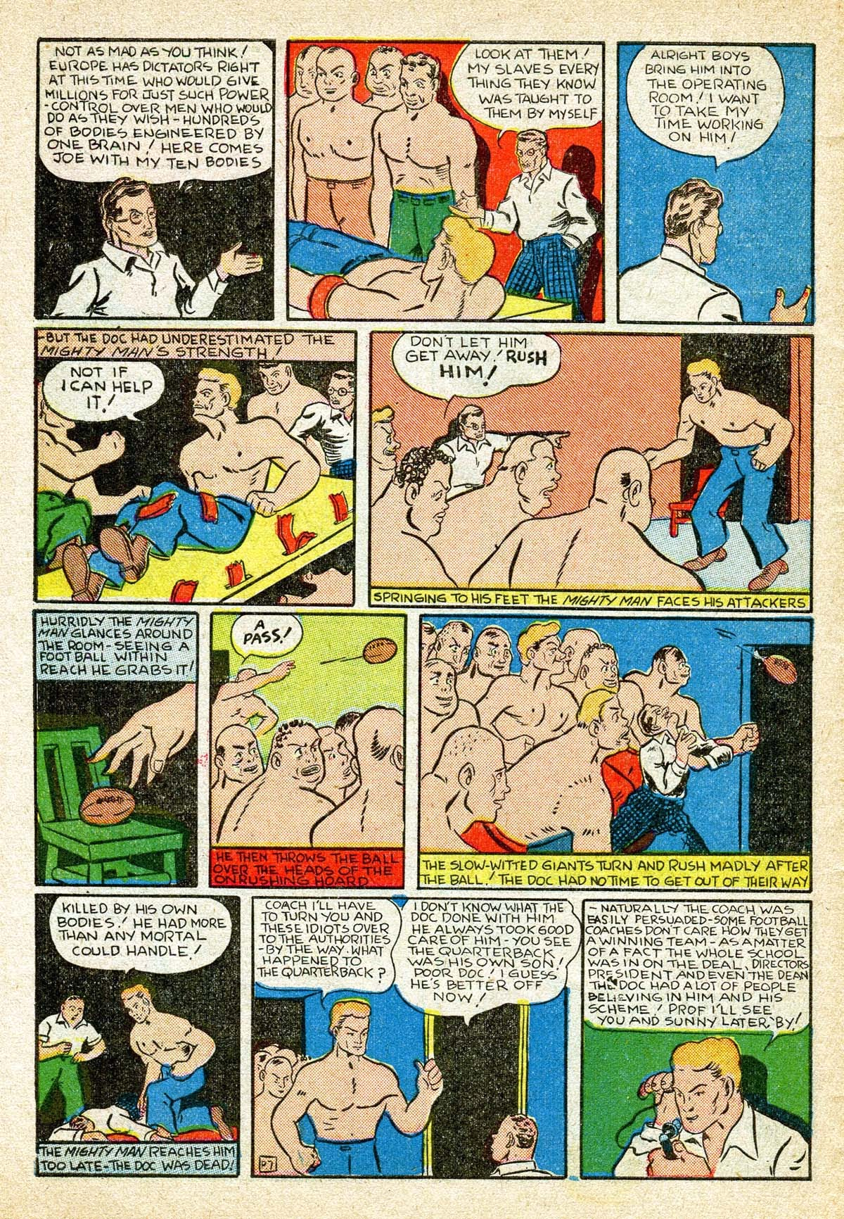 Read online Amazing Man Comics comic -  Issue #8 - 58
