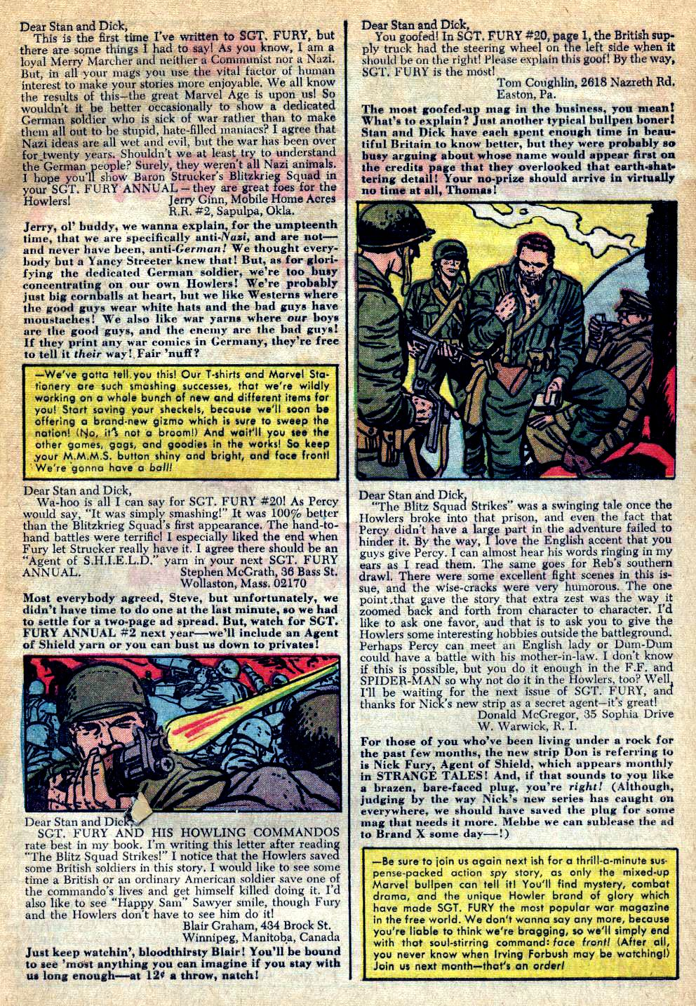 Read online Sgt. Fury comic -  Issue #24 - 33