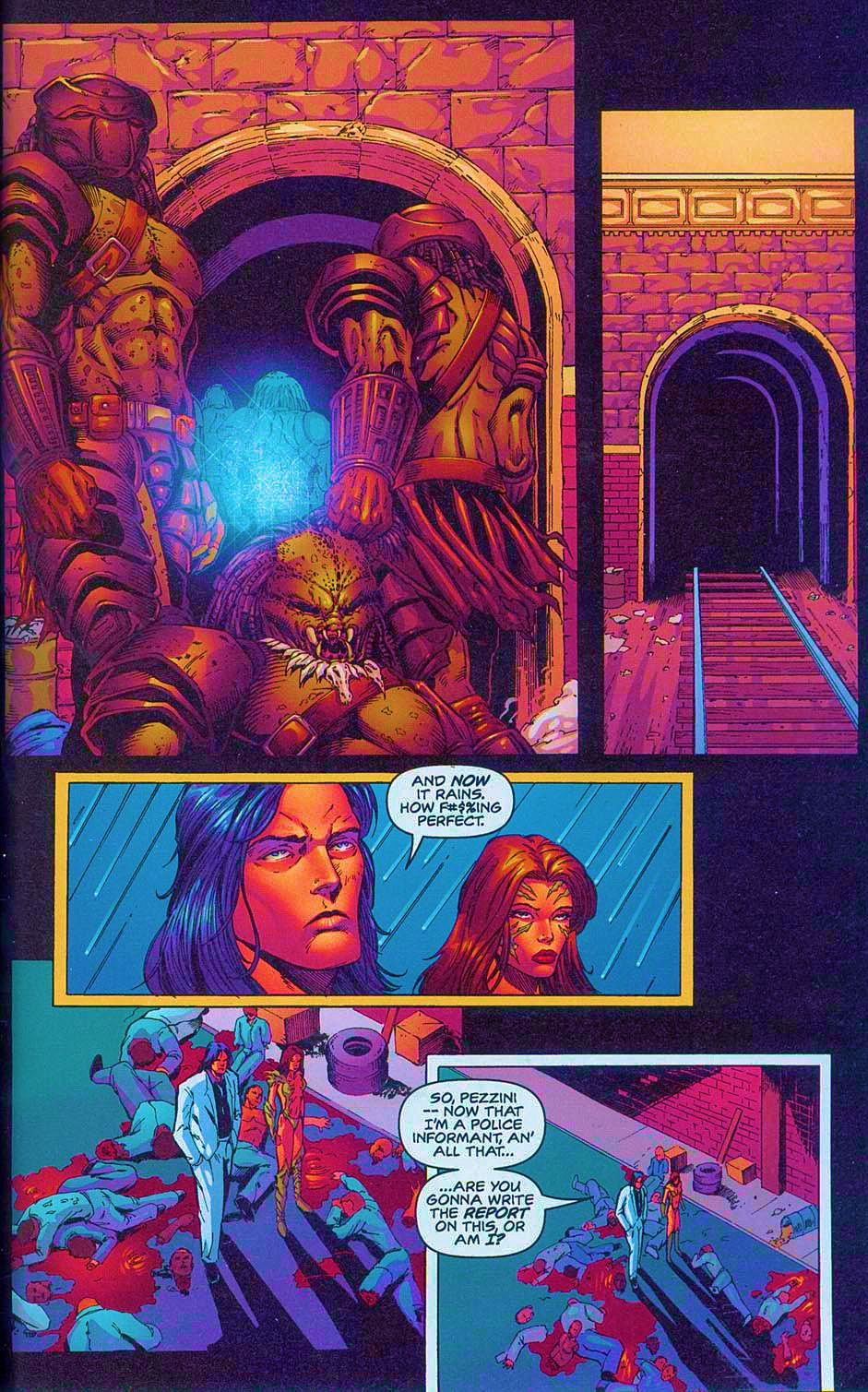 Read online Overkill: Witchblade/Aliens/Darkness/Predator comic -  Issue #2 - 34