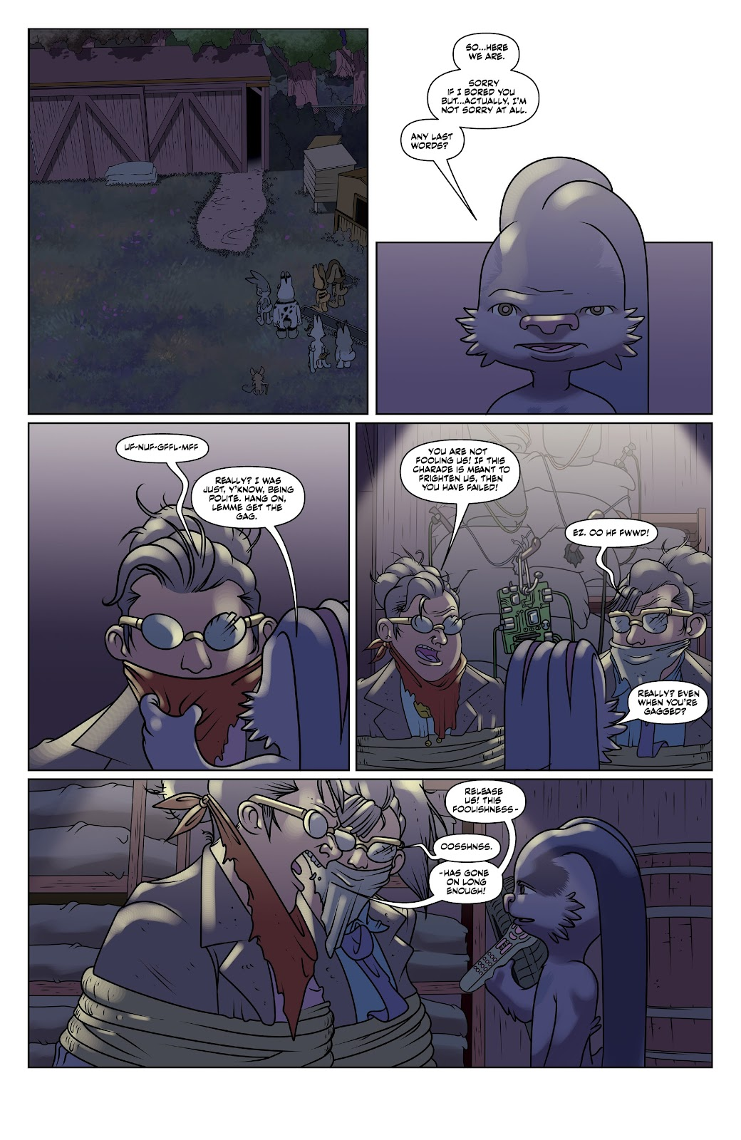 Read online Auntie Agatha's Home For Wayward Rabbits comic -  Issue #6 - 7