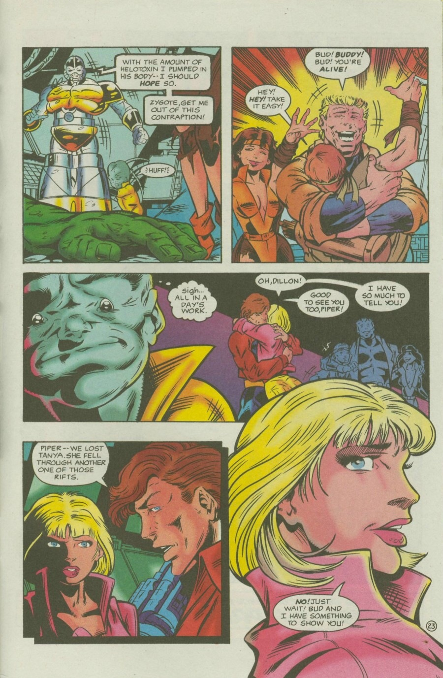 Read online Ex-Mutants comic -  Issue #7 - 28