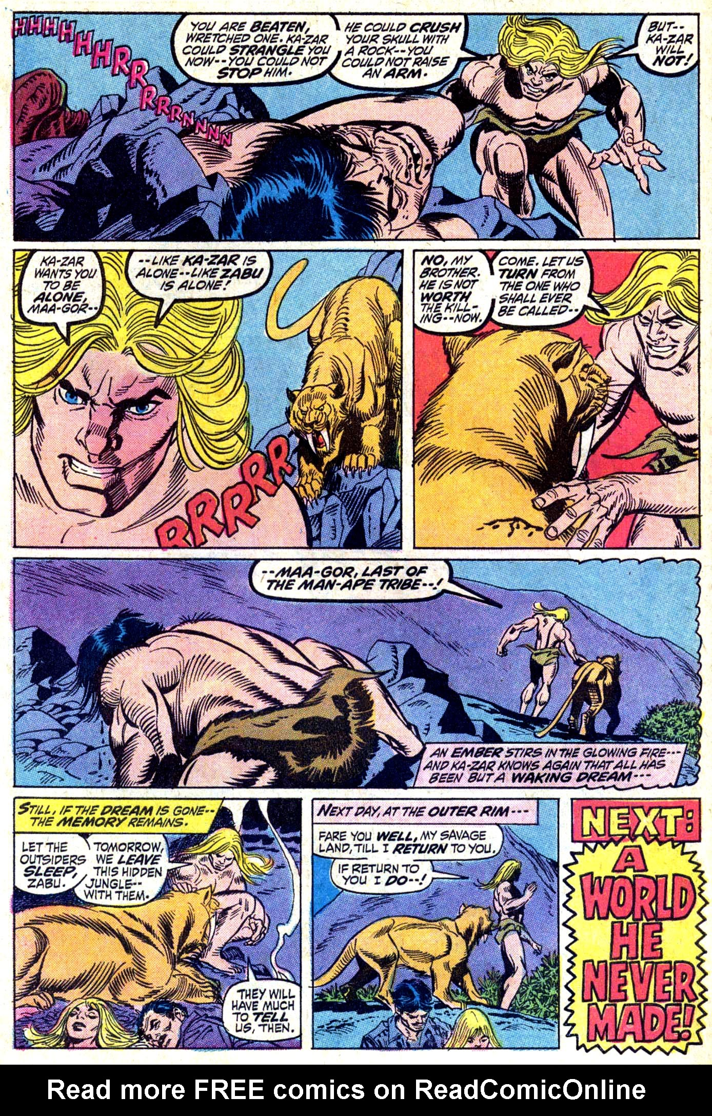 Read online Astonishing Tales (1970) comic -  Issue #11 - 22