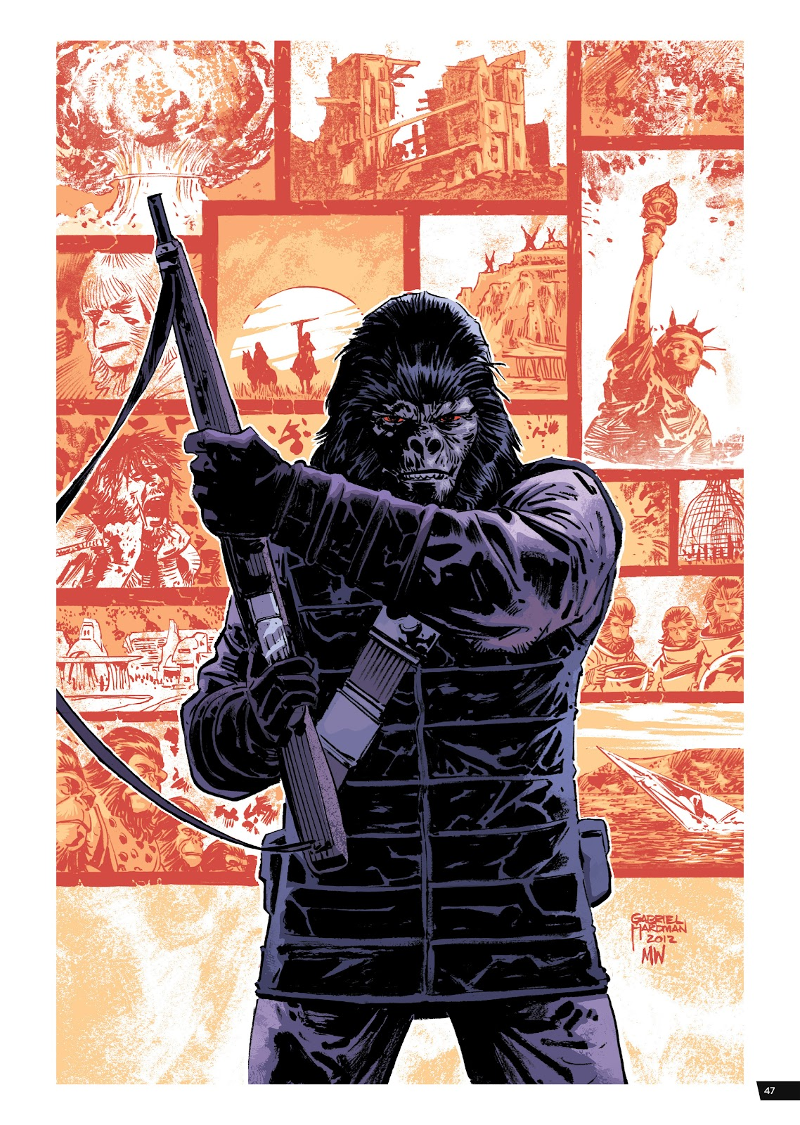 Read online Planet of the Apes Artist Tribute comic -  Issue # TPB - 47