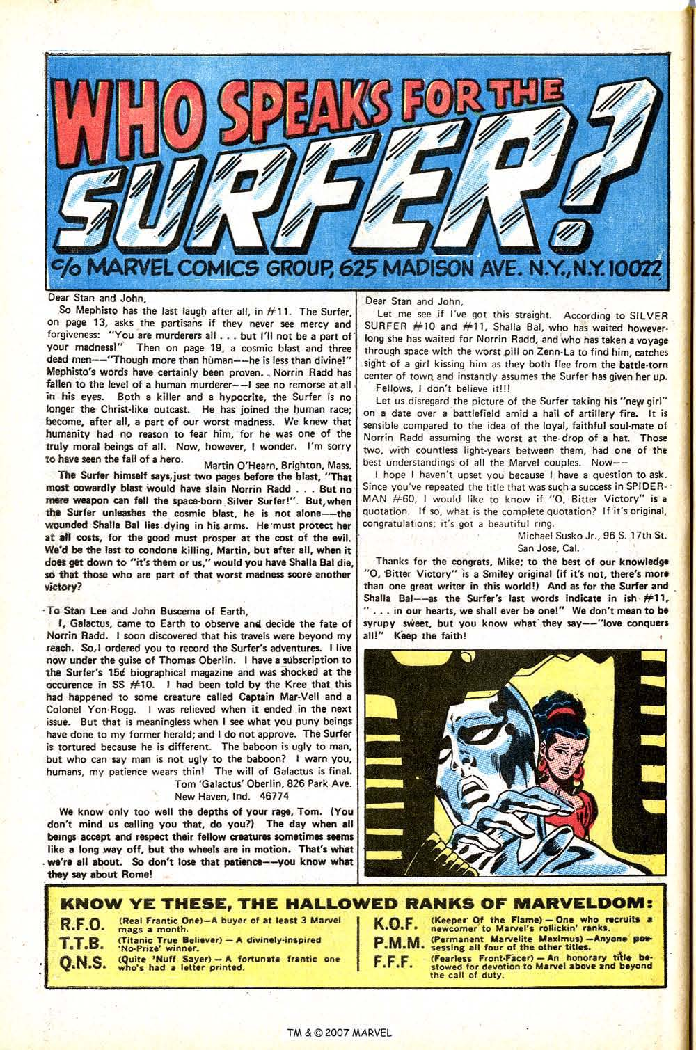 Read online Silver Surfer (1968) comic -  Issue #15 - 32