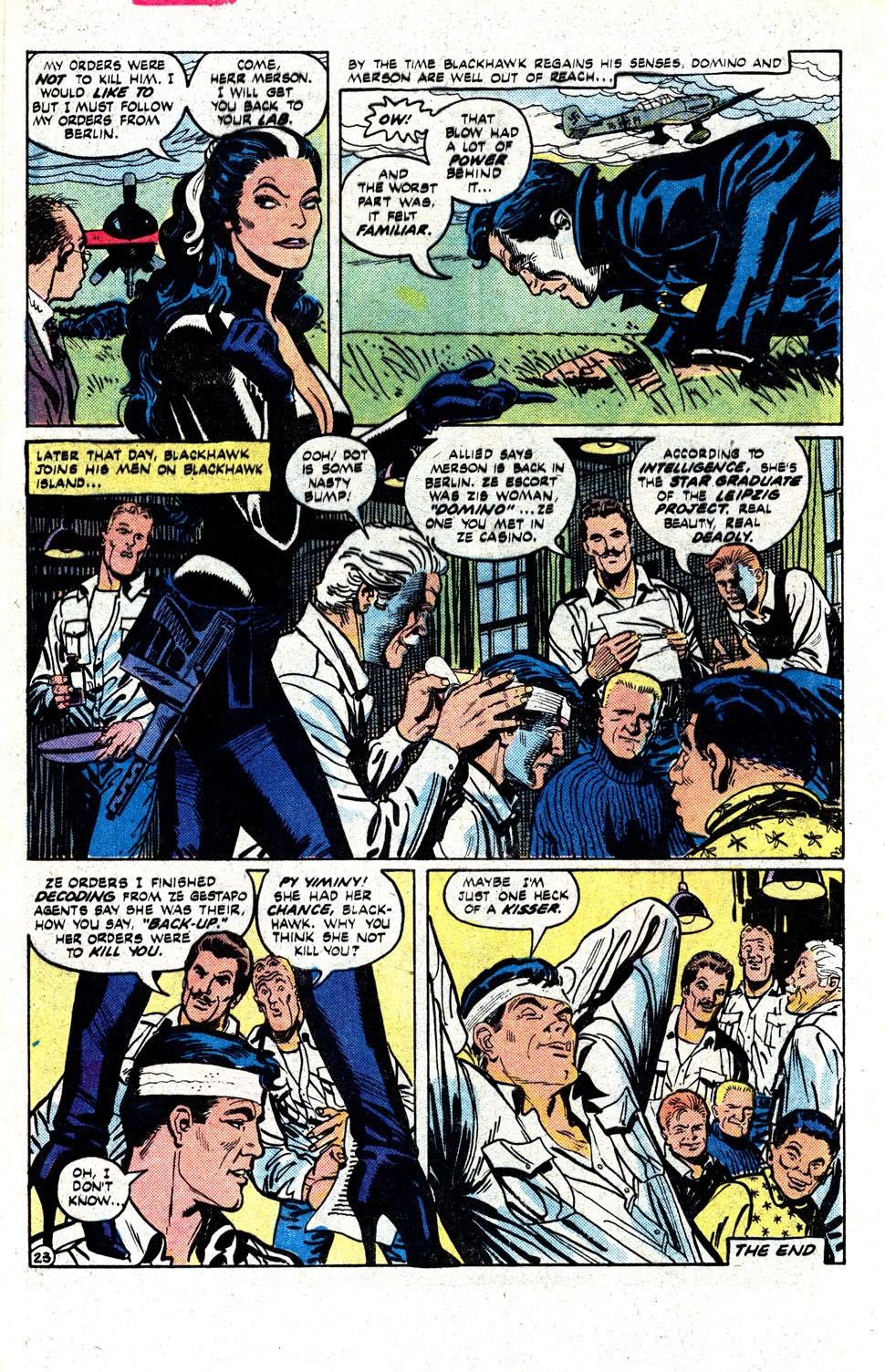Read online Blackhawk (1957) comic -  Issue #252 - 31